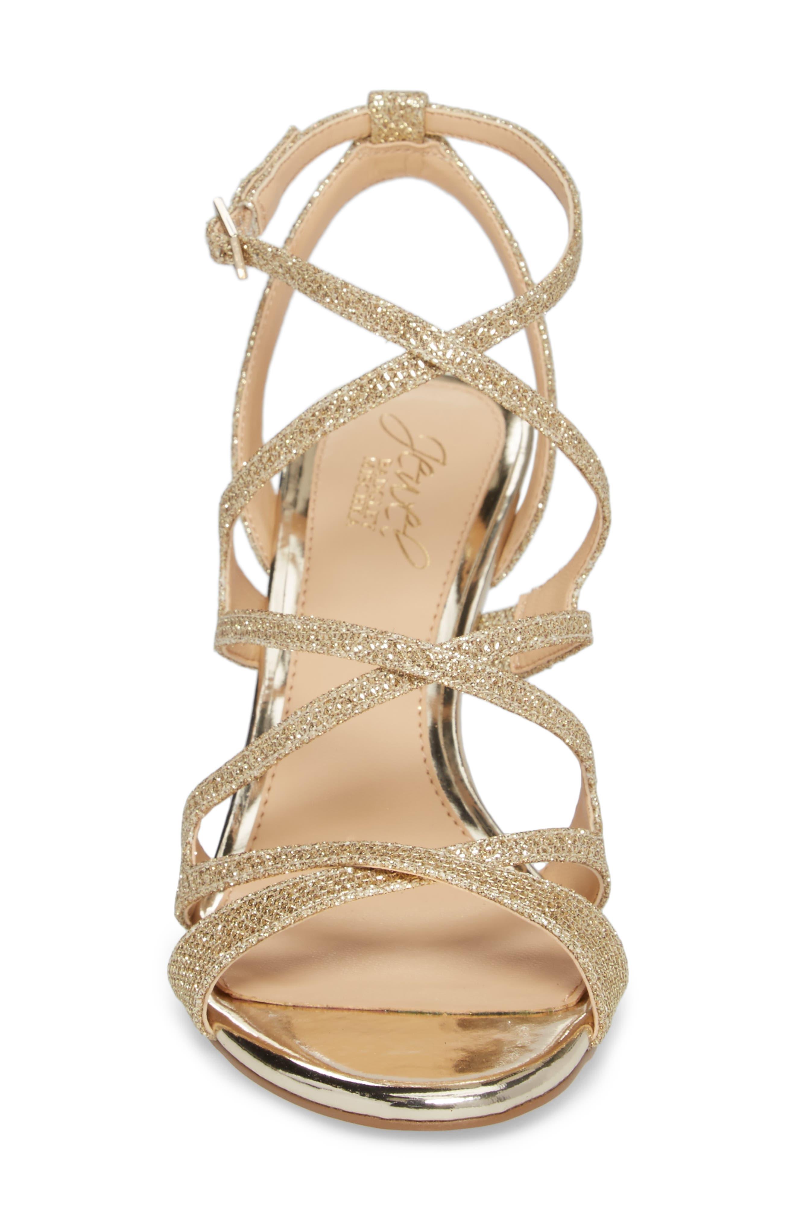 Tasha Glitter Sandal,                             Alternate thumbnail 6, color,                             Light Gold Glitter