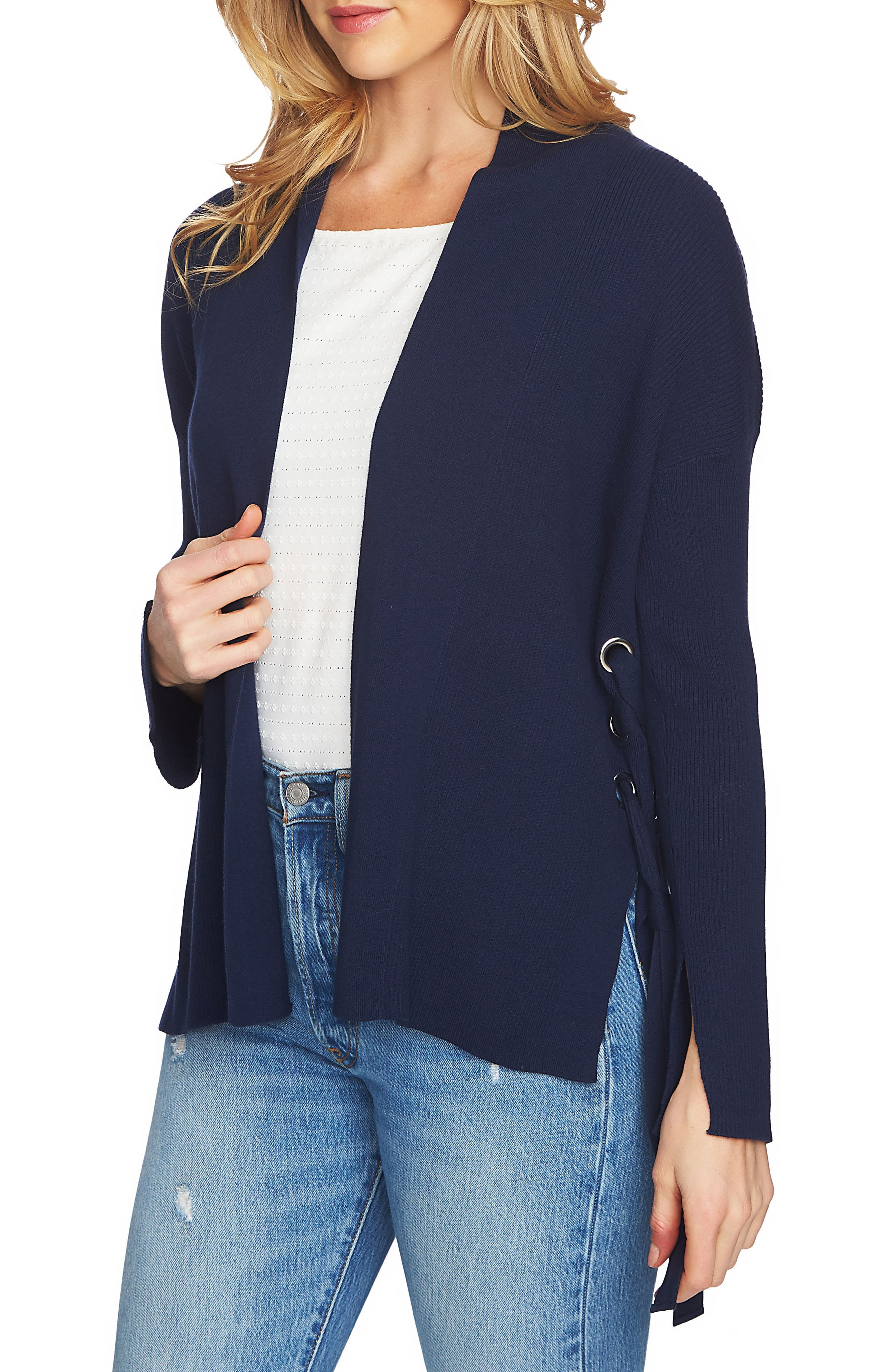 1.STATE Side Lace-Up Cardigan