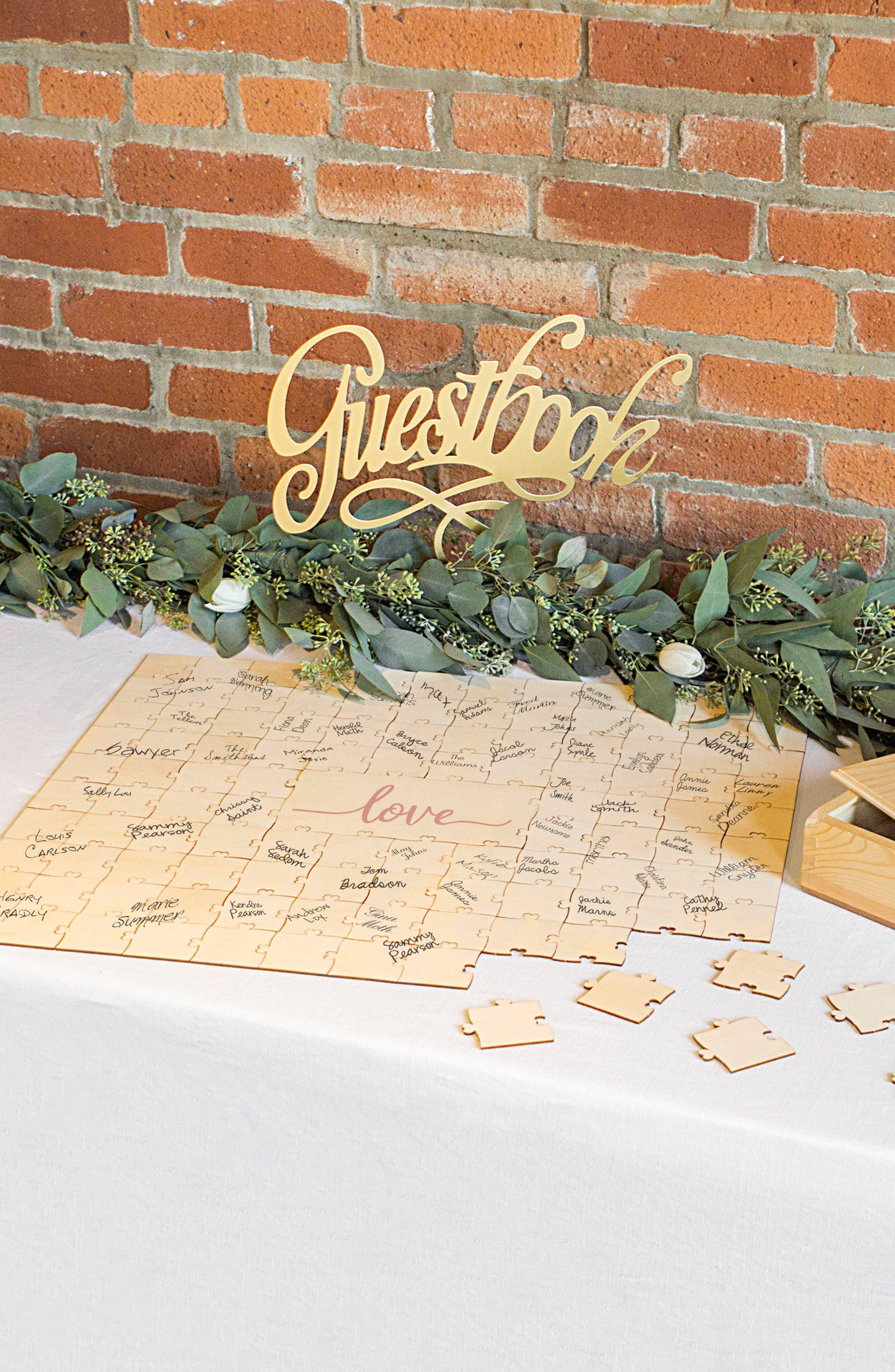 Love Guest Book Puzzle,                             Alternate thumbnail 7, color,                             Brown