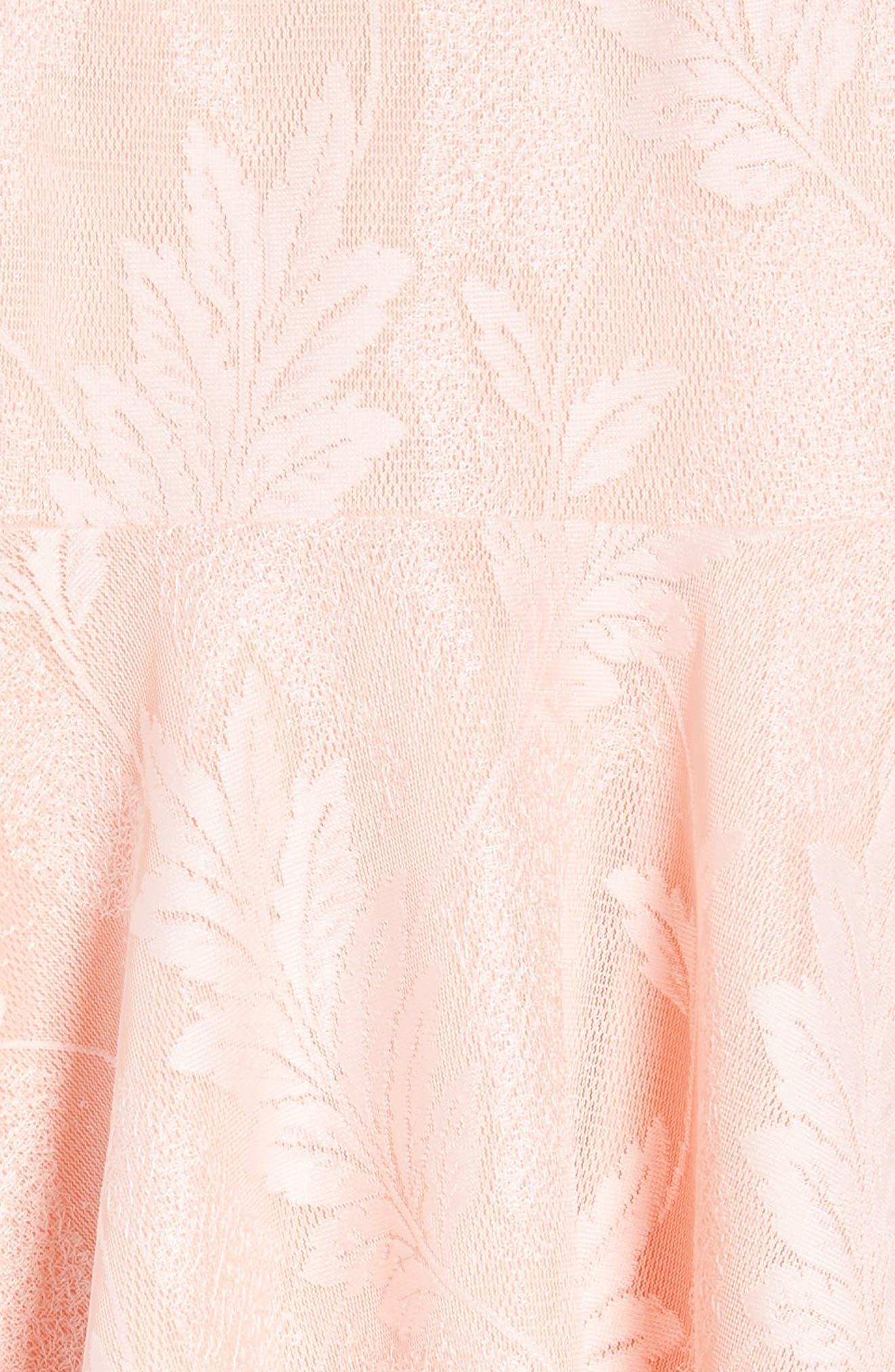 Split Strap Lace Fit & Flare Dress,                             Alternate thumbnail 3, color,                             Peach