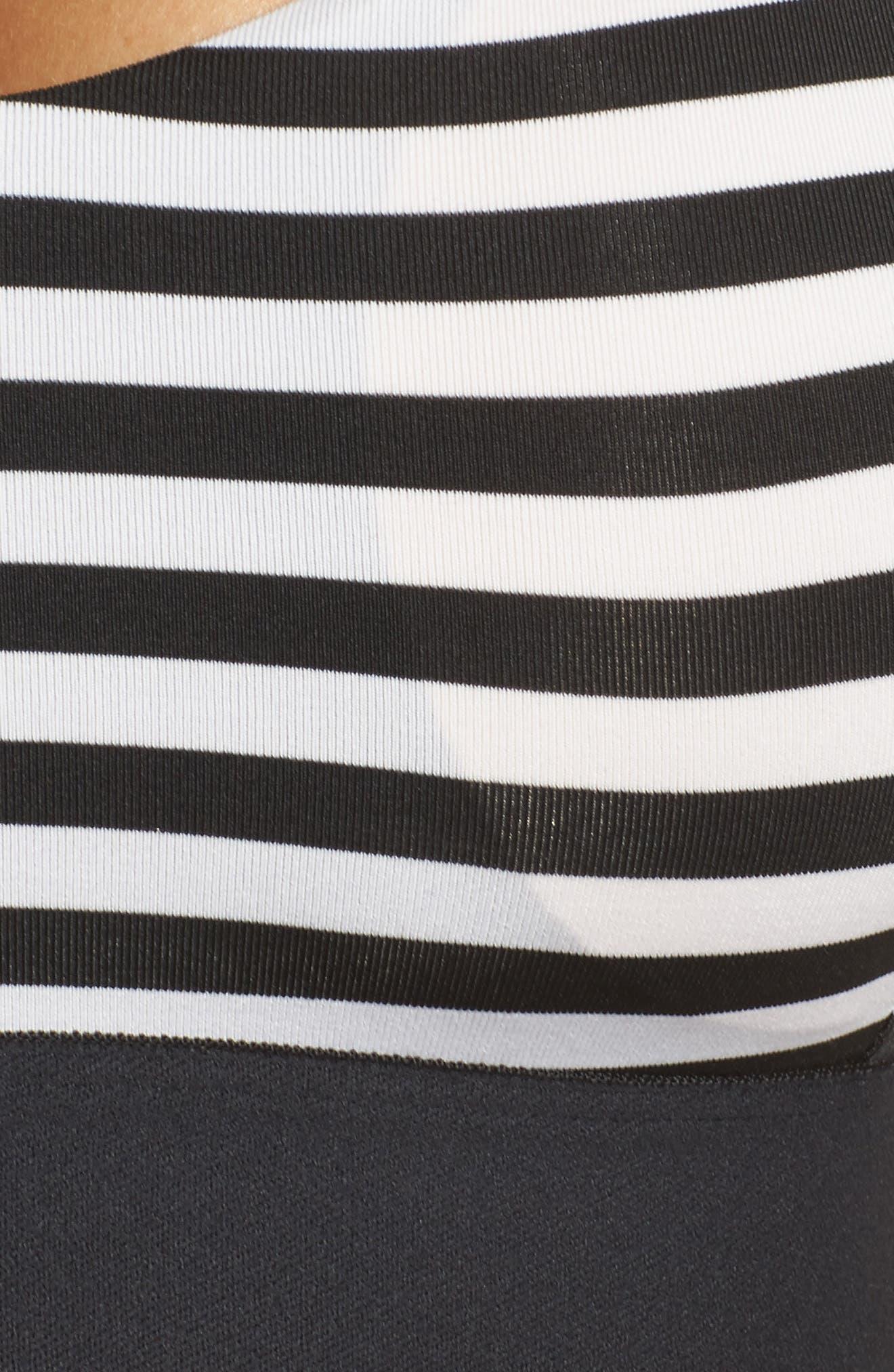 Hot Shot Bra,                             Alternate thumbnail 4, color,                             White/ Black Stripe/ Black