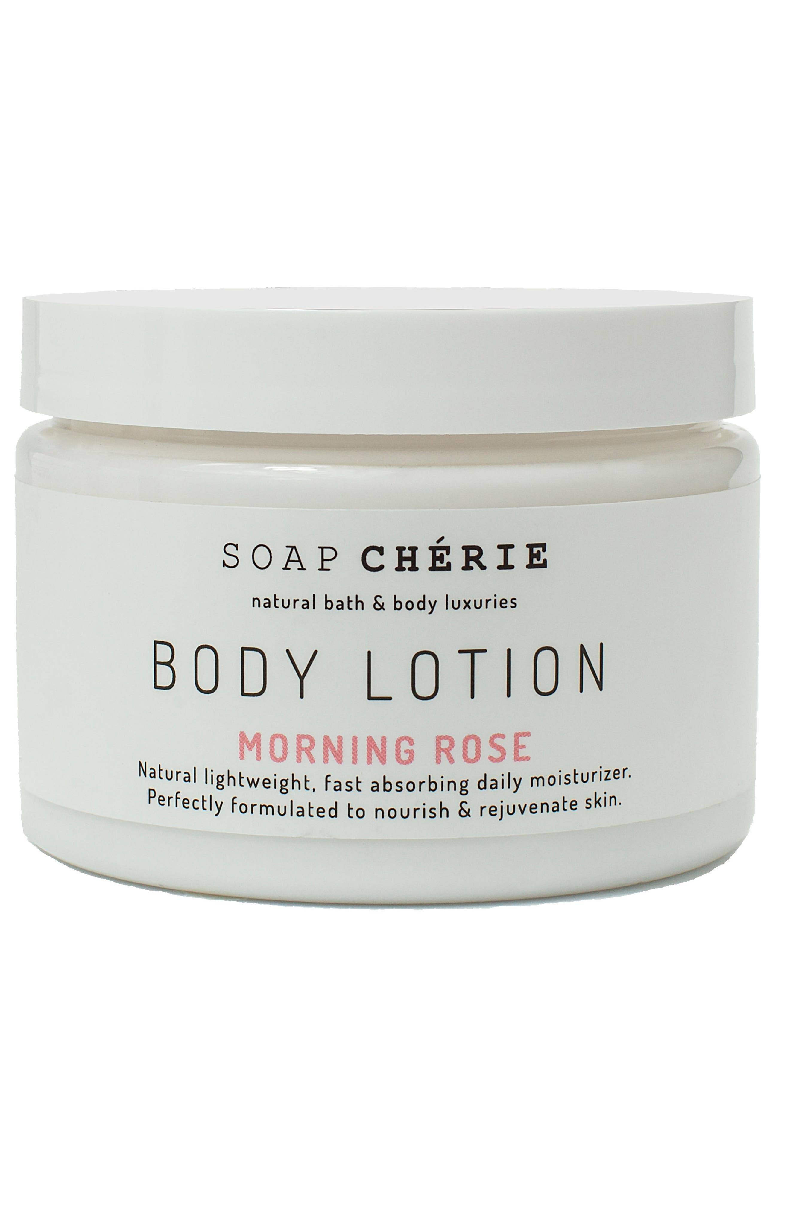 Soap Chérie Body Lotion,                             Main thumbnail 1, color,                             Morning Rose
