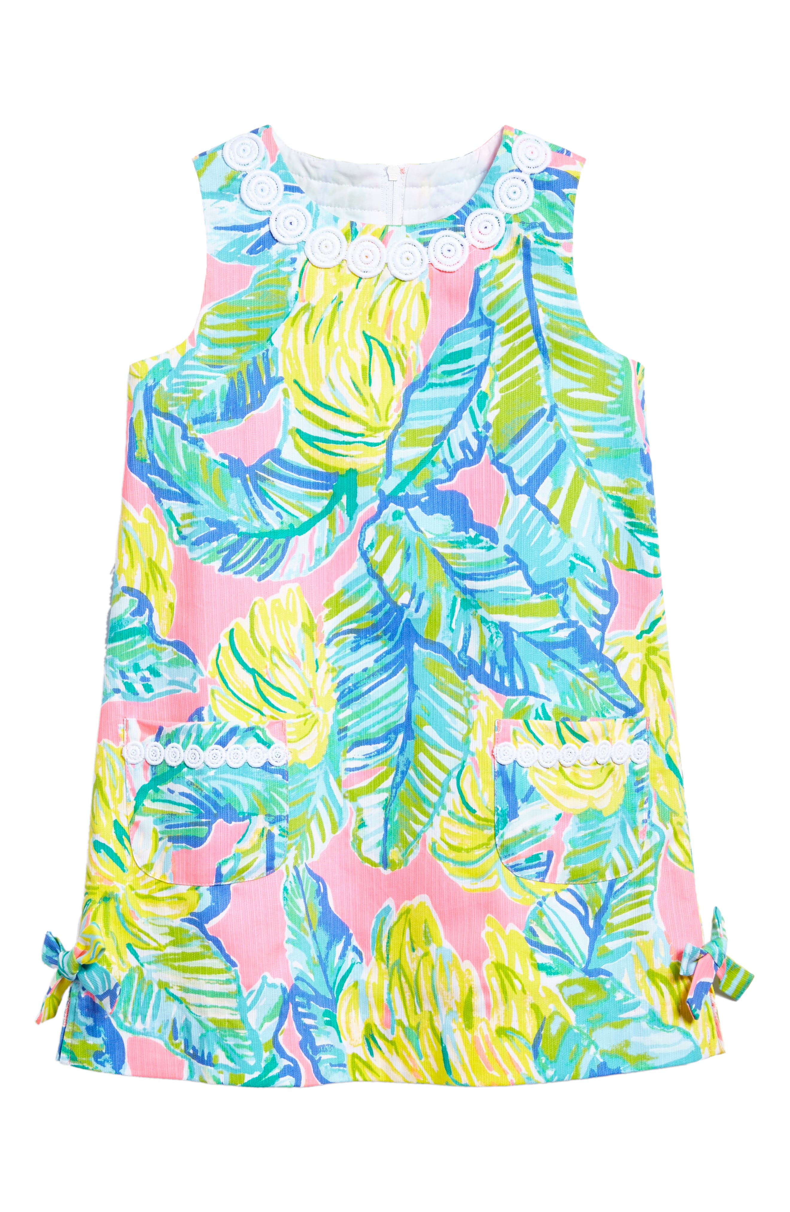 Little Lilly Shift Dress,                             Main thumbnail 1, color,                             Pink Sunset Local Flavor
