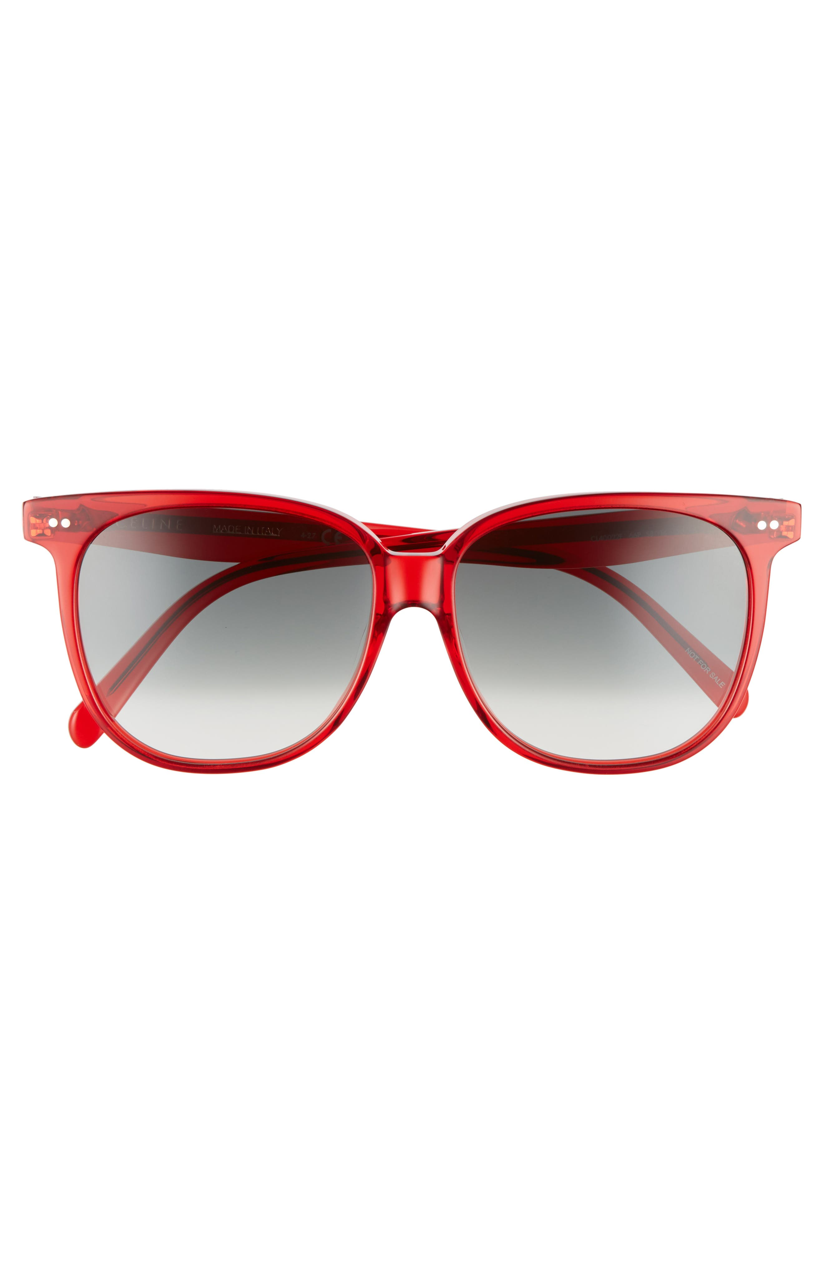 Special Fit 58mm Square Sunglasses,                             Alternate thumbnail 3, color,                             Red/ Green