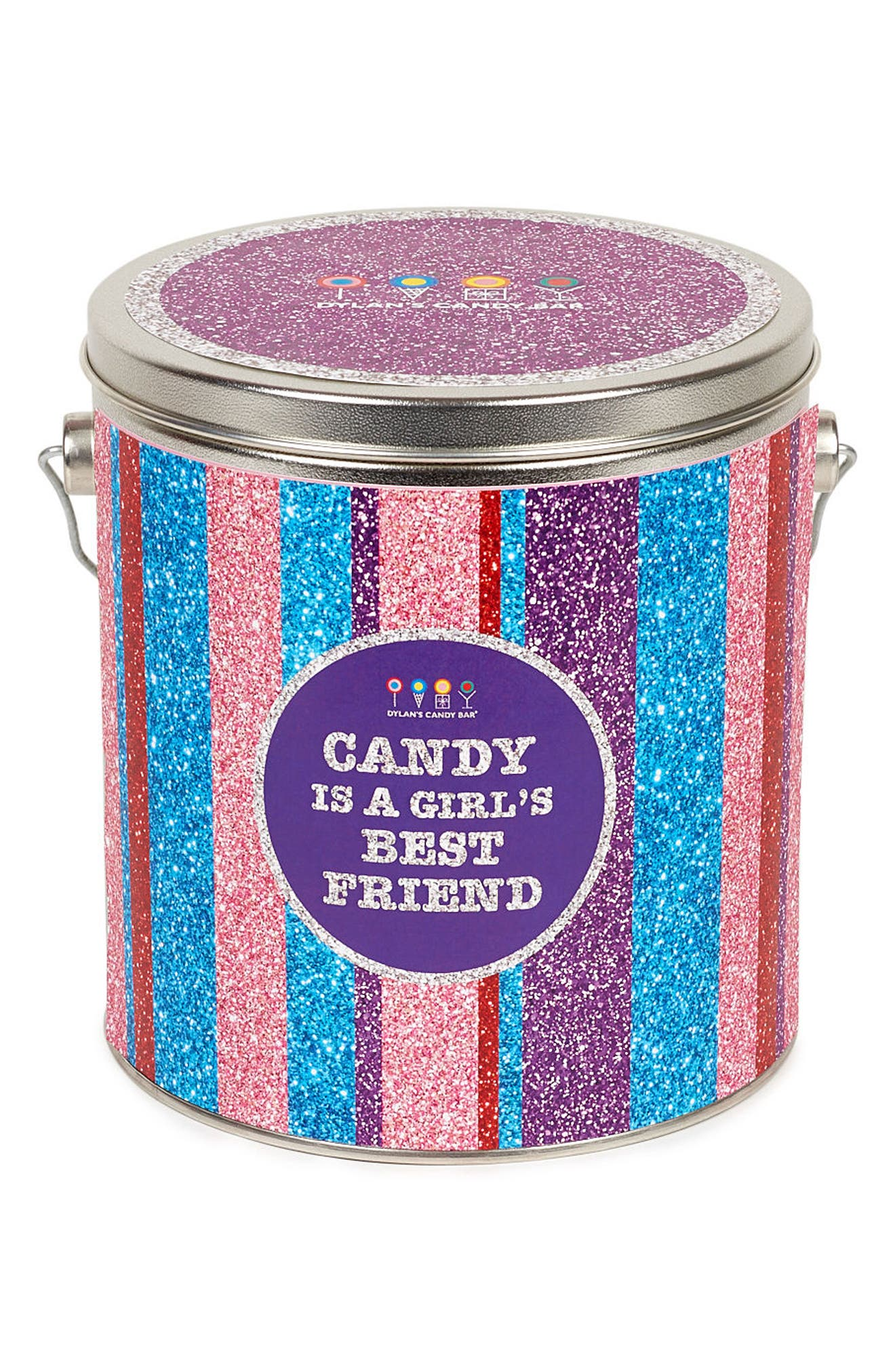 Candy Is a Girl's Best Friend Bucket,                             Alternate thumbnail 2, color,                             Pink Multi
