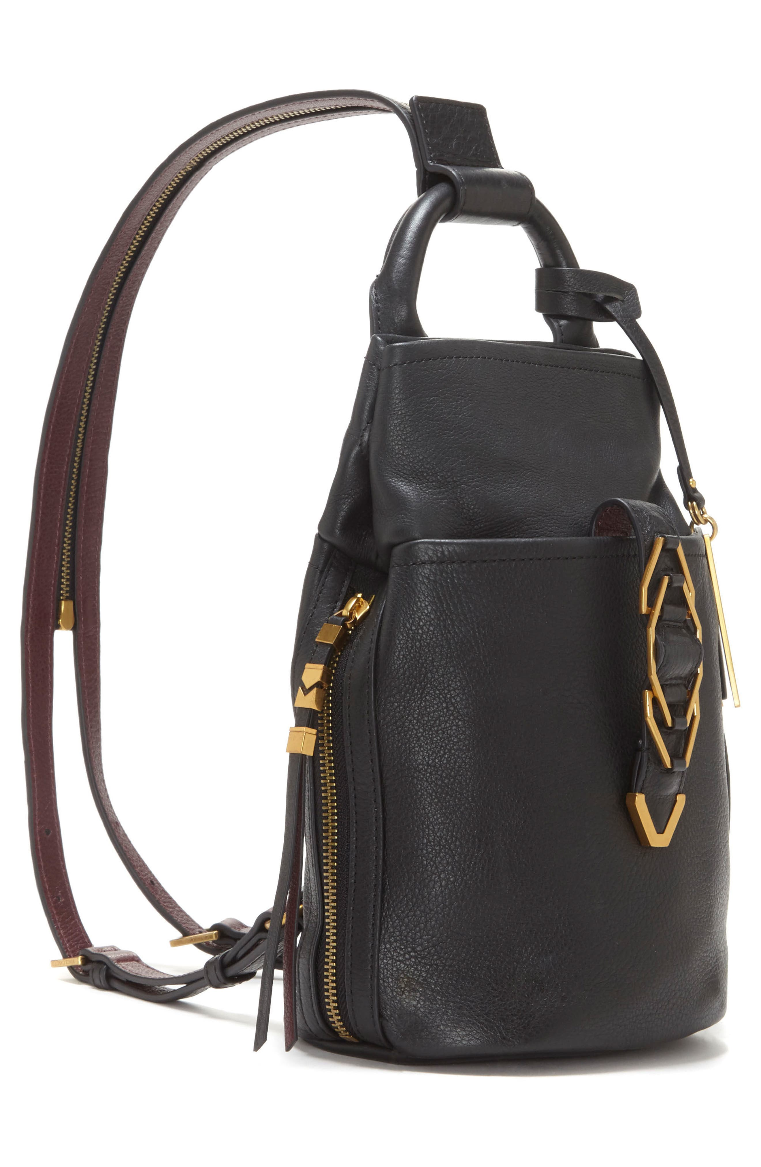 Alternate Image 4  - Vince Camuto Small Luk Adjustable Leather Backpack