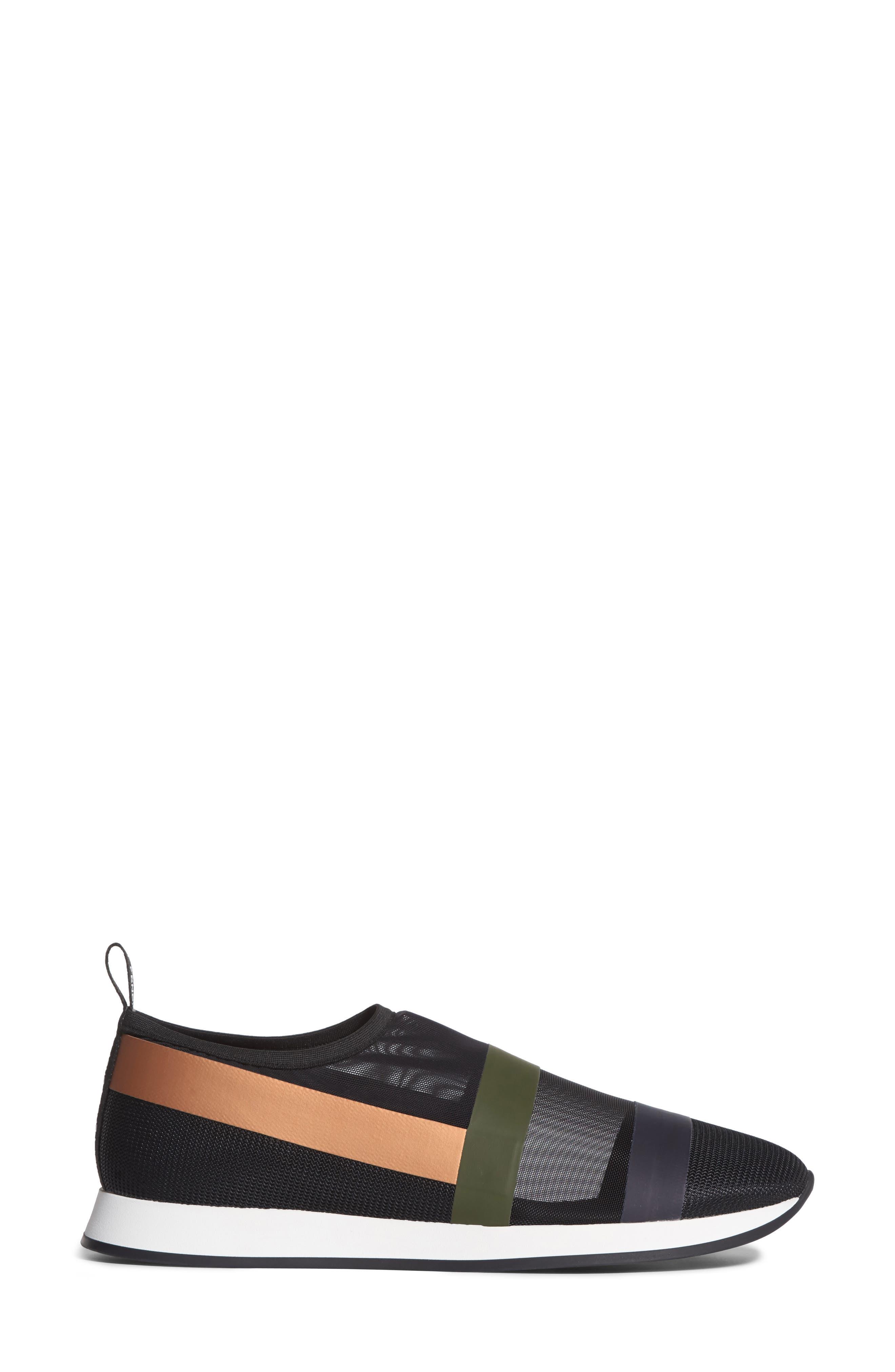 Slip-On Sneaker,                             Alternate thumbnail 3, color,                             Black/ Beige