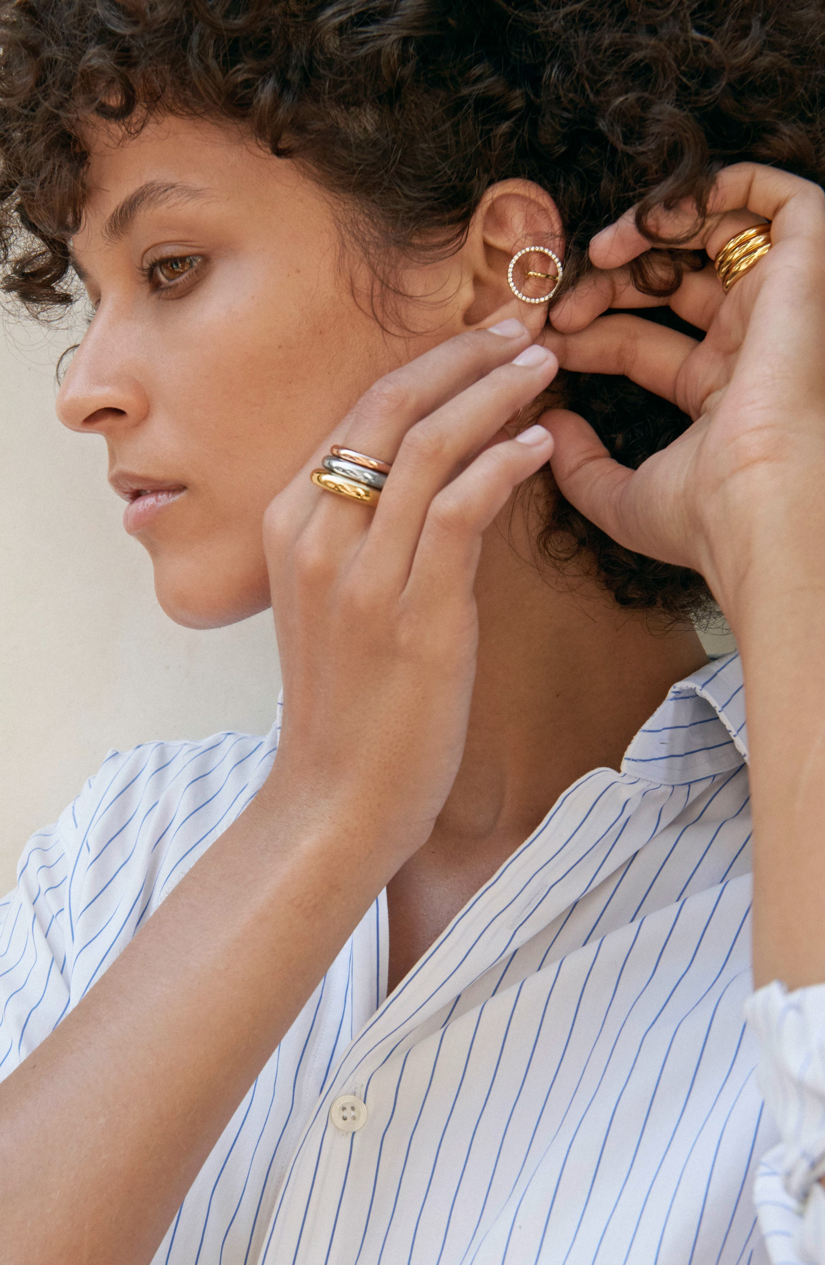 Celeste Diamond Earring,                             Alternate thumbnail 2, color,                             Yellow White Gold Diamonds