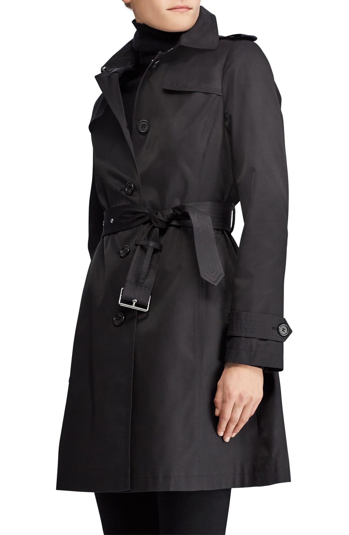 Alternate Image 3  - Lauren Ralph Lauren Trench Coat (Petite)