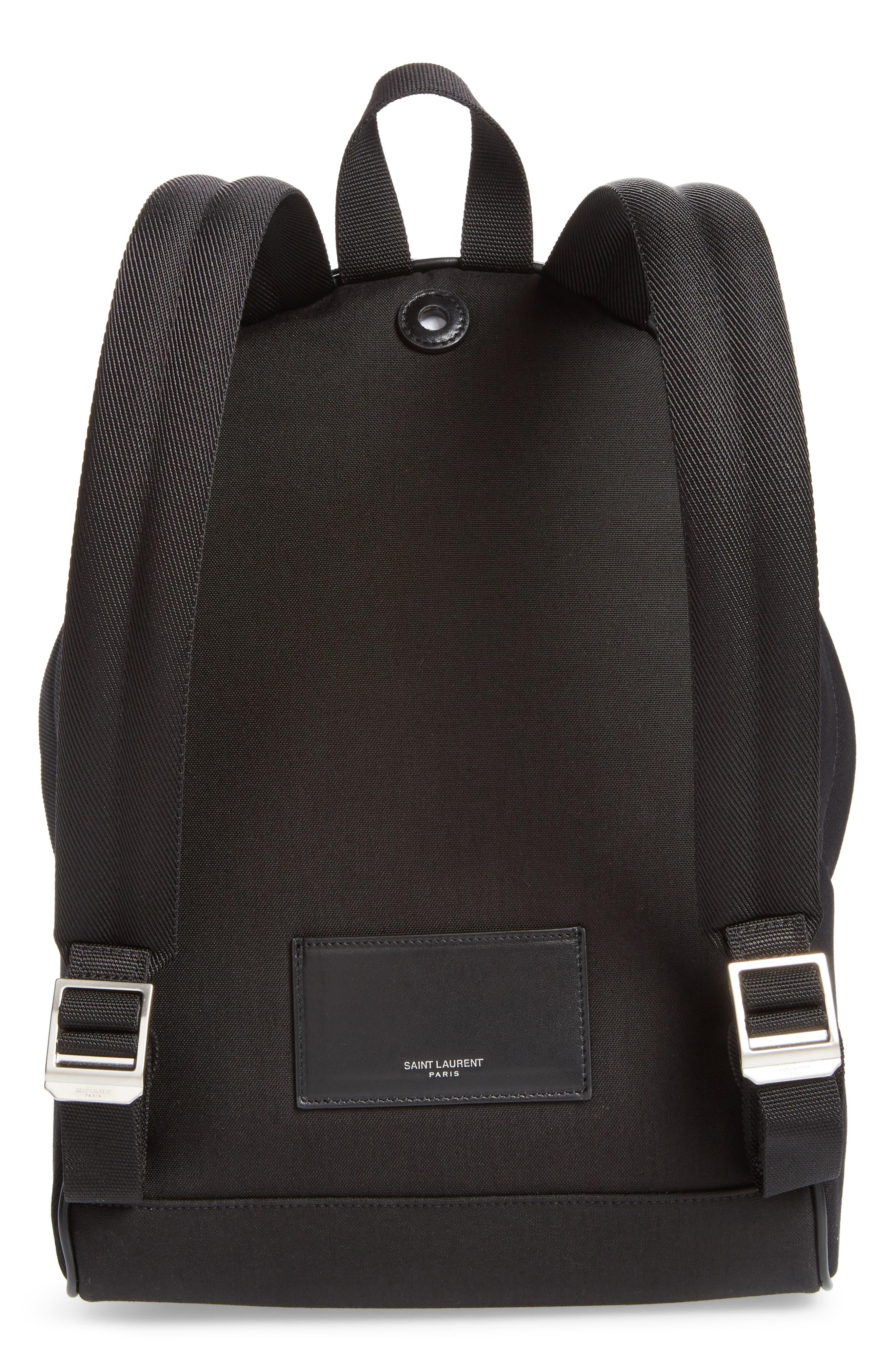 Alternate Image 3  - Saint Laurent Mini City Logo Canvas Backpack