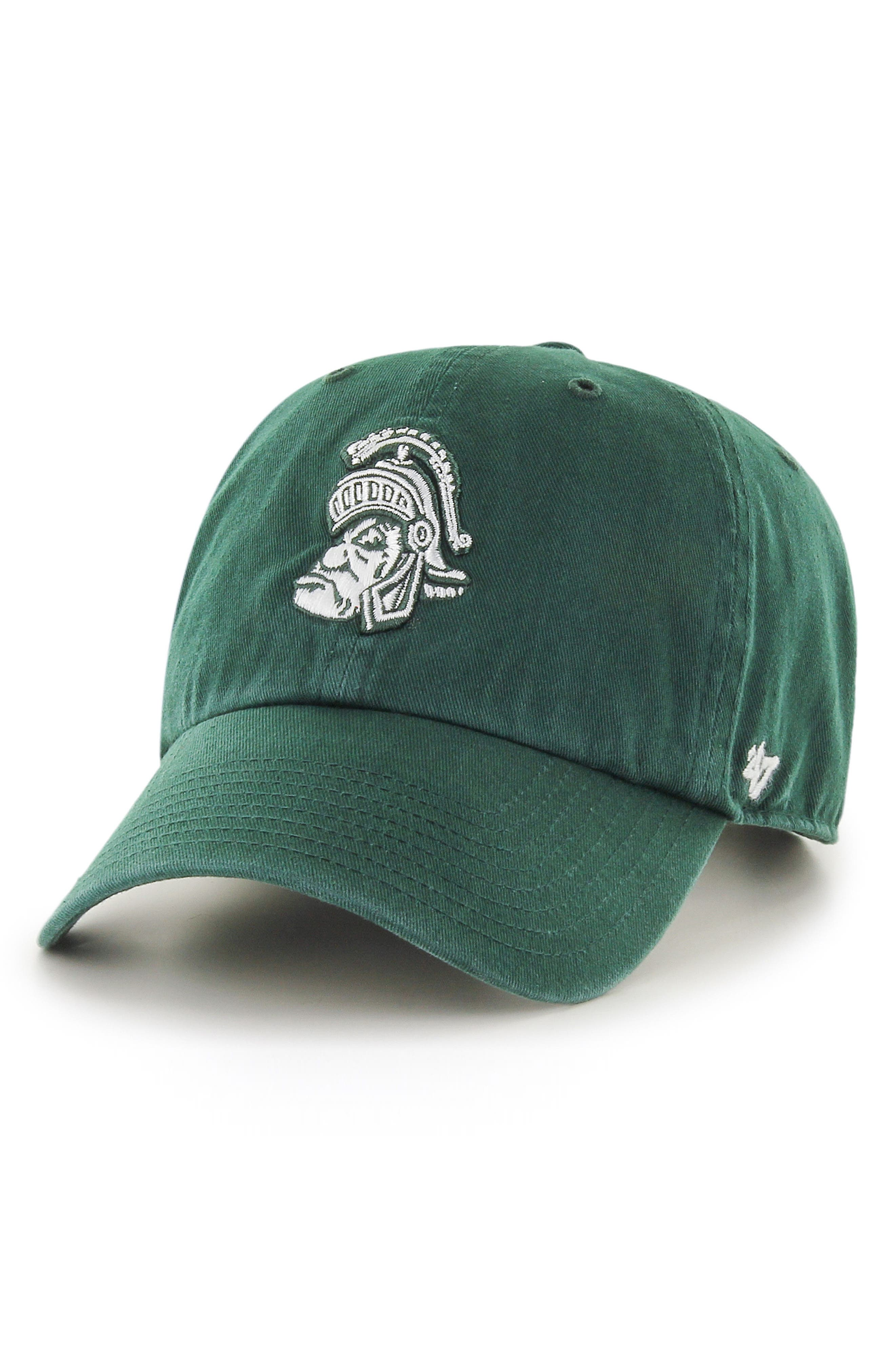 47 Brand Collegiate Clean Up Michigan State Spartans Ball Cap,                             Main thumbnail 1, color,                             Michigan State Spartans