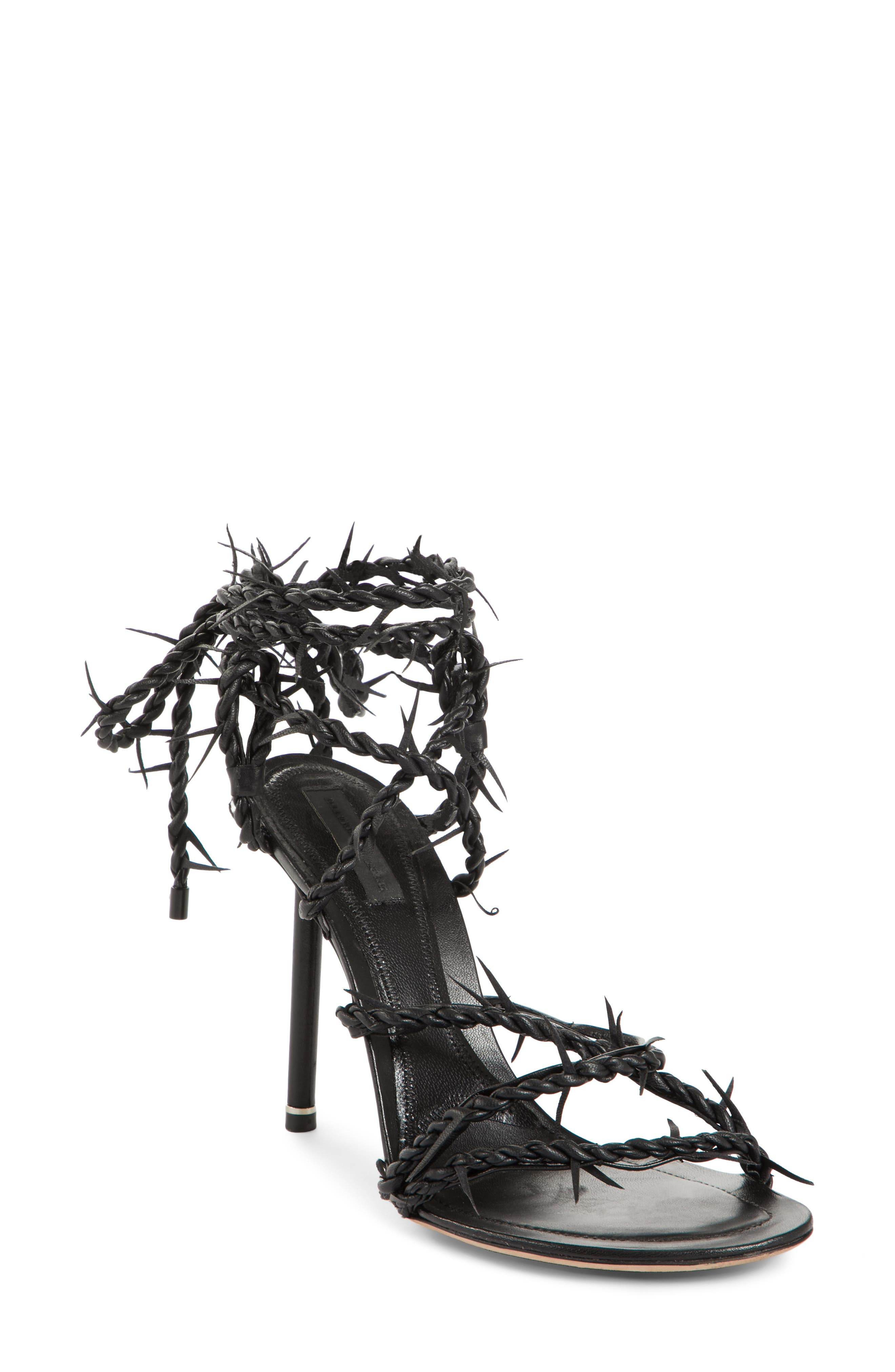 Lexie Cabel Wire Sandal,                             Main thumbnail 1, color,                             Black