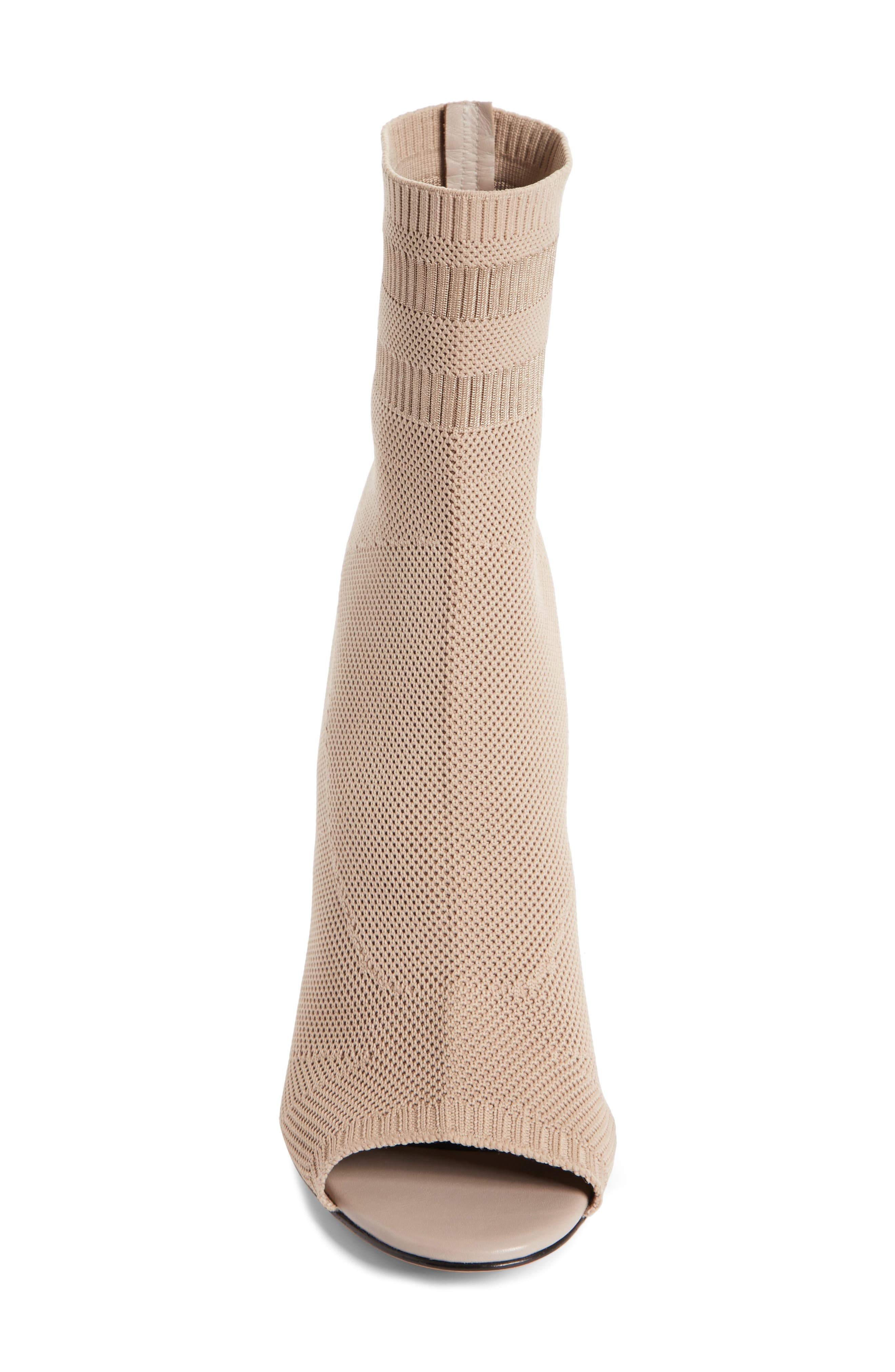 Cat Knit Sock Boot,                             Alternate thumbnail 4, color,                             Nude