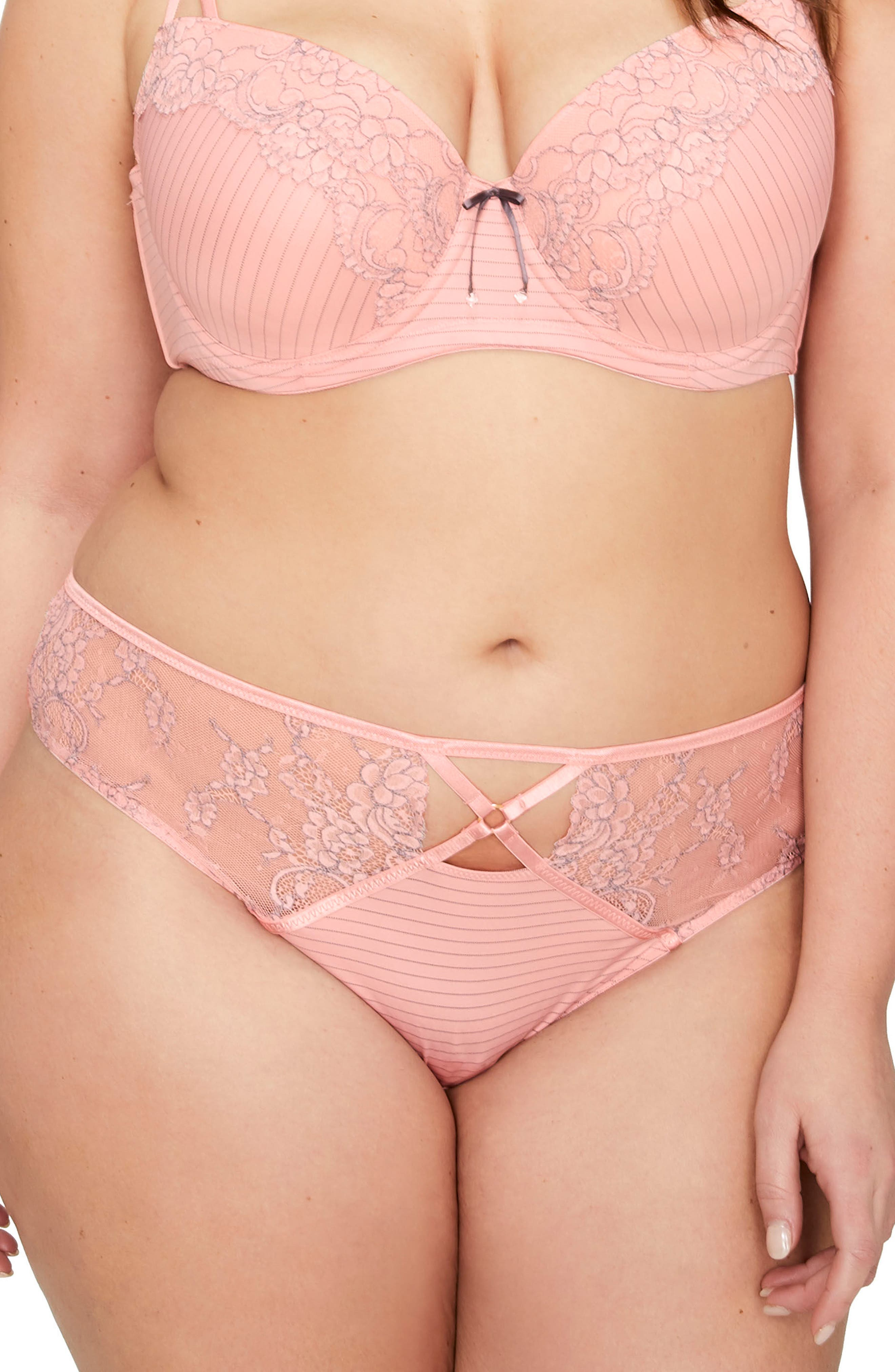Showstopper Thong,                         Main,                         color, Mellow Rose
