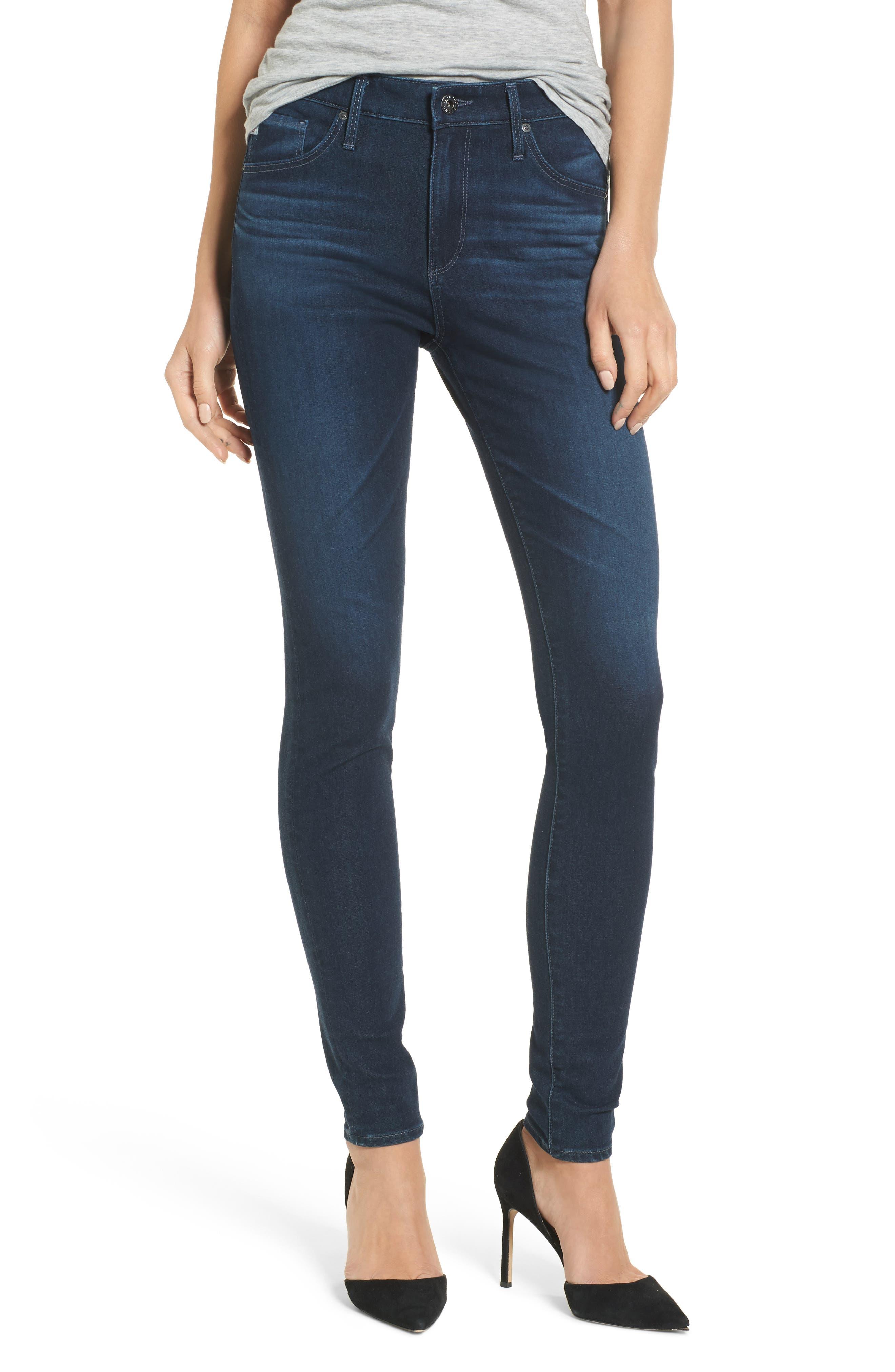 Alternate Image 1 Selected - AG The Farrah High Waist Skinny Jeans