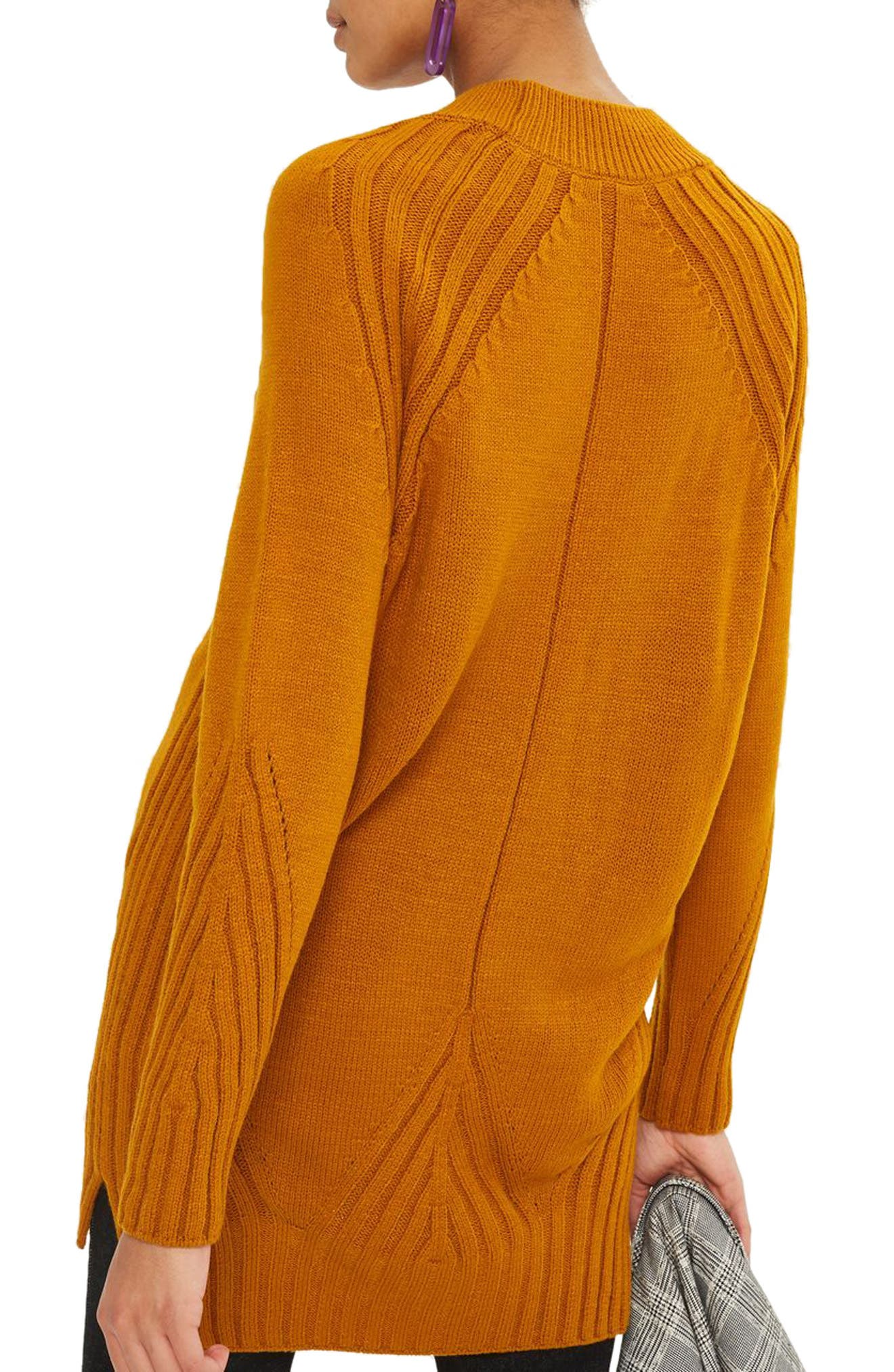 Alternate Image 2  - Topshop Knit Detail Sweater Dress