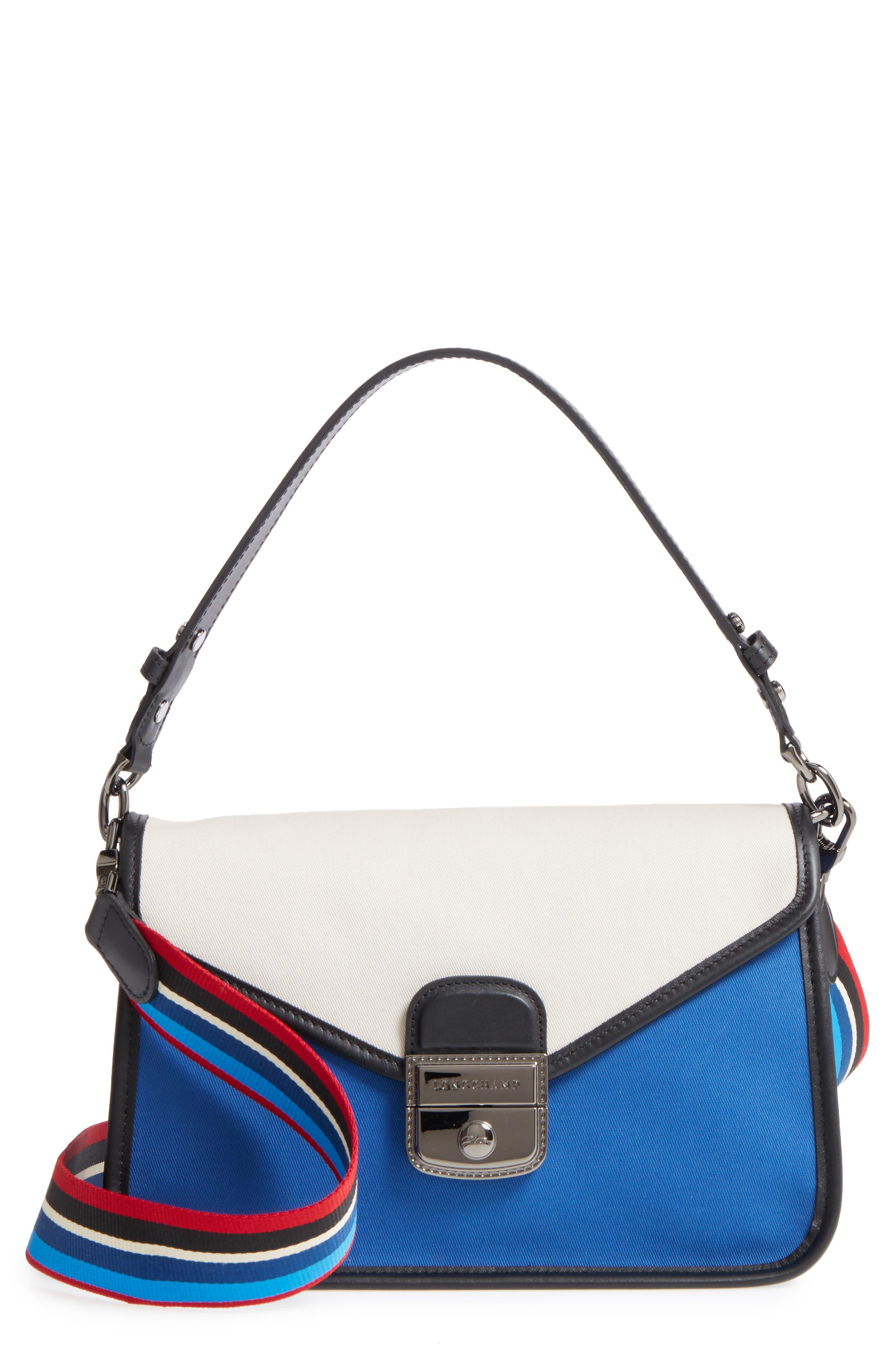 Main Image - Longchamp Mademoiselle Gabardine Canvas Shoulder Bag