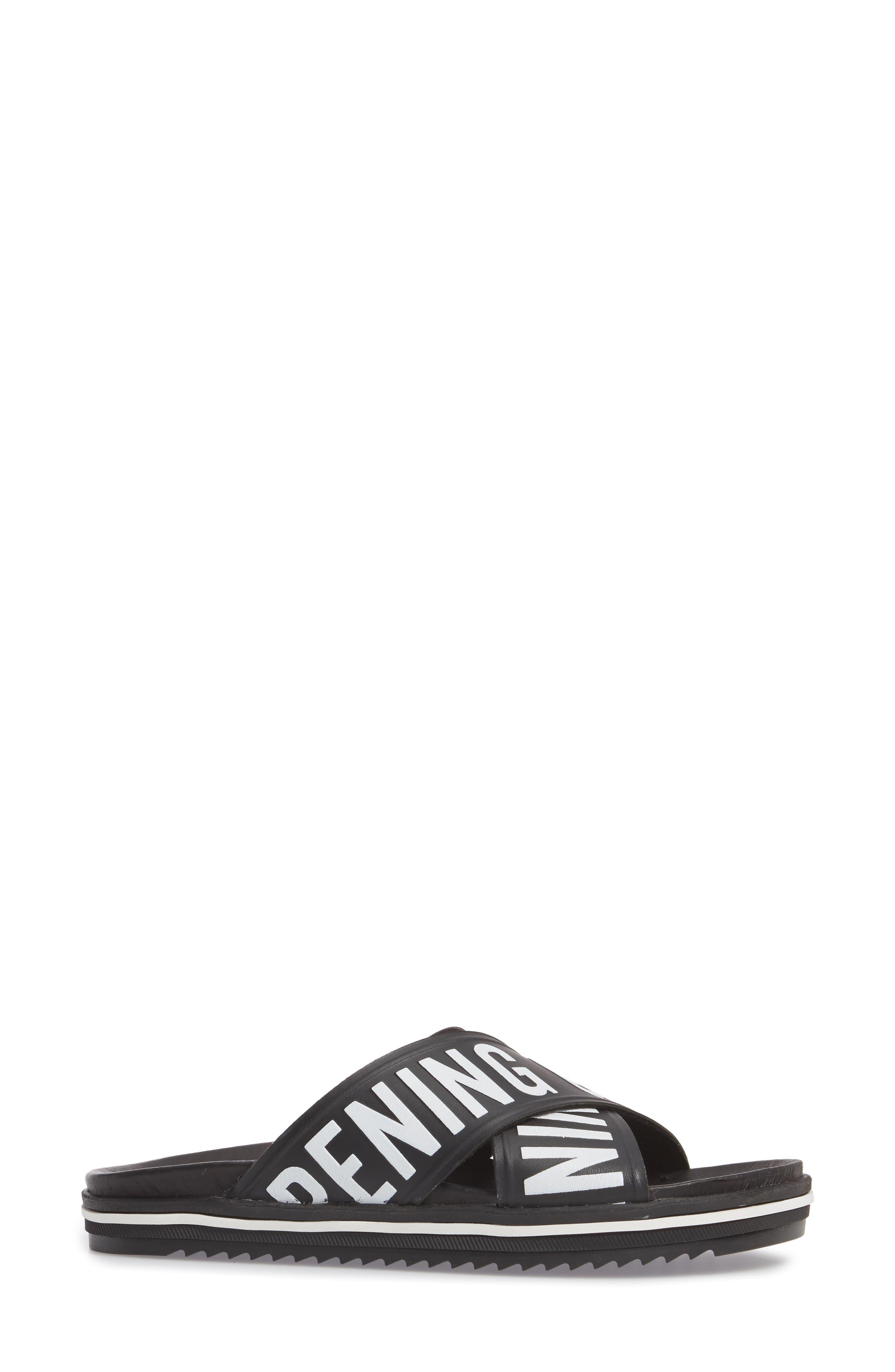 Berkeley Slide Sandal,                             Alternate thumbnail 3, color,                             Black Multi