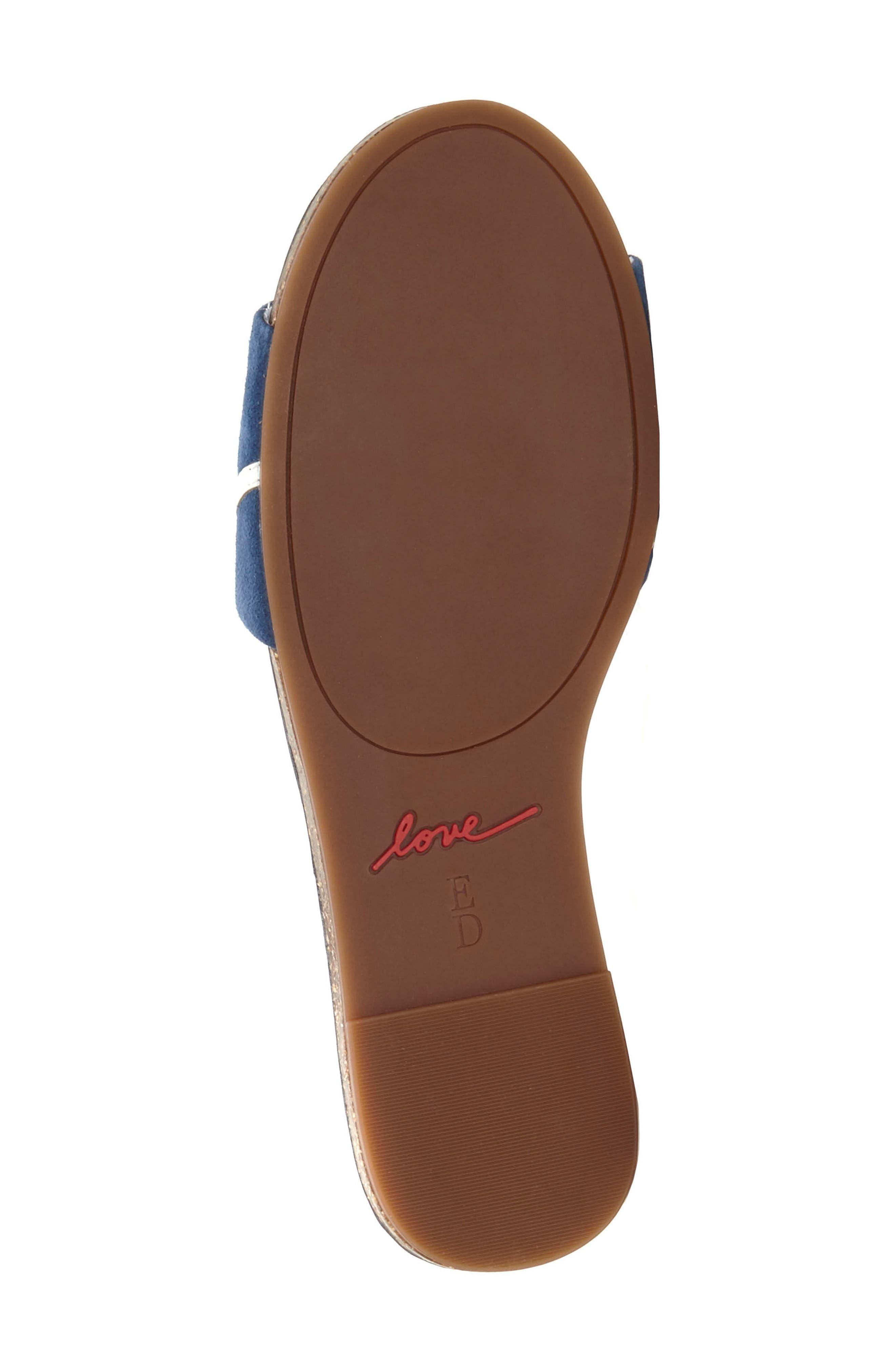 Sharlin Slide Sandal,                             Alternate thumbnail 6, color,                             Oxford Blue/ Milk