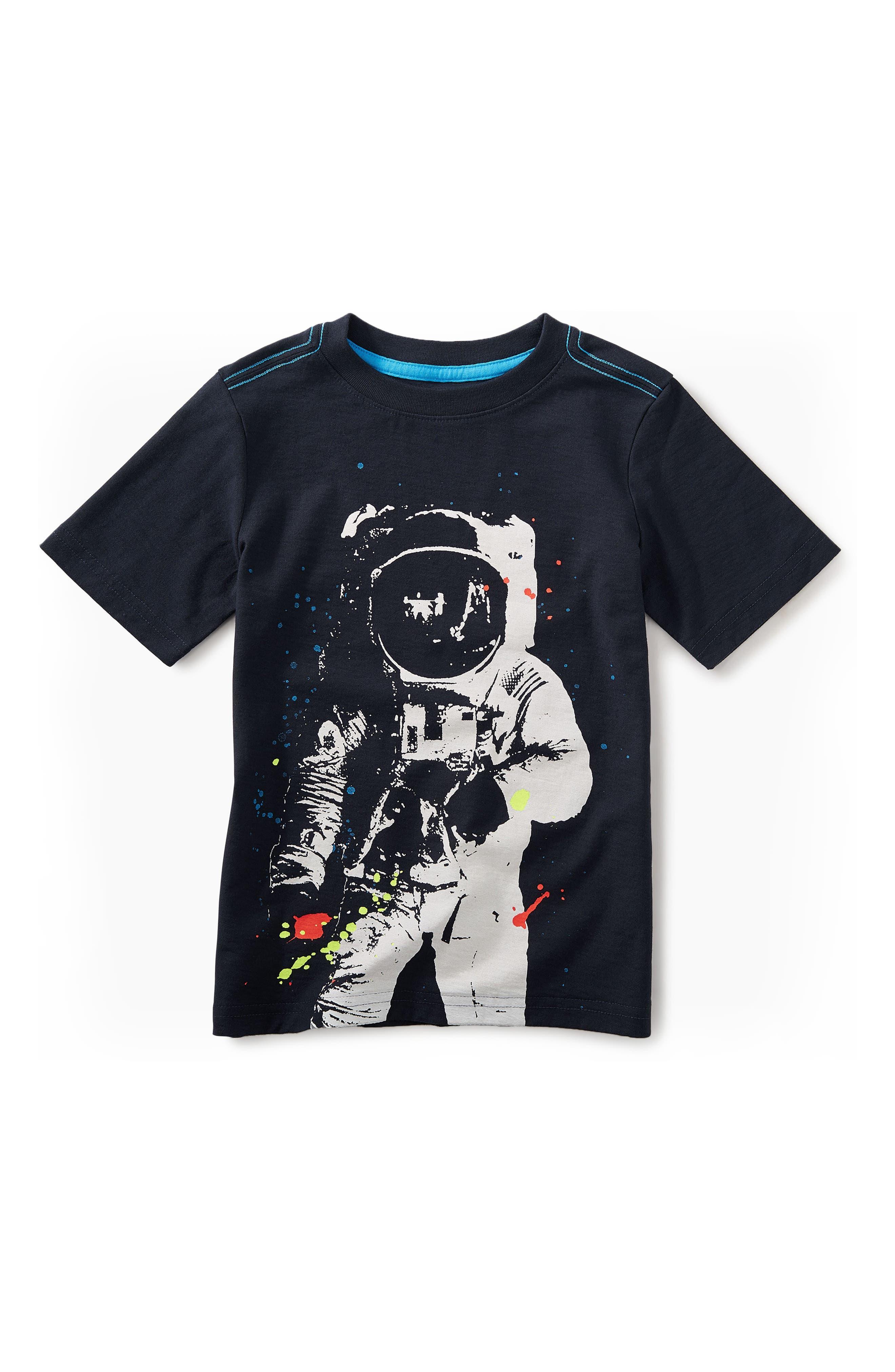 Astronaut Graphic T-Shirt,                             Main thumbnail 1, color,                             Heritage Blue
