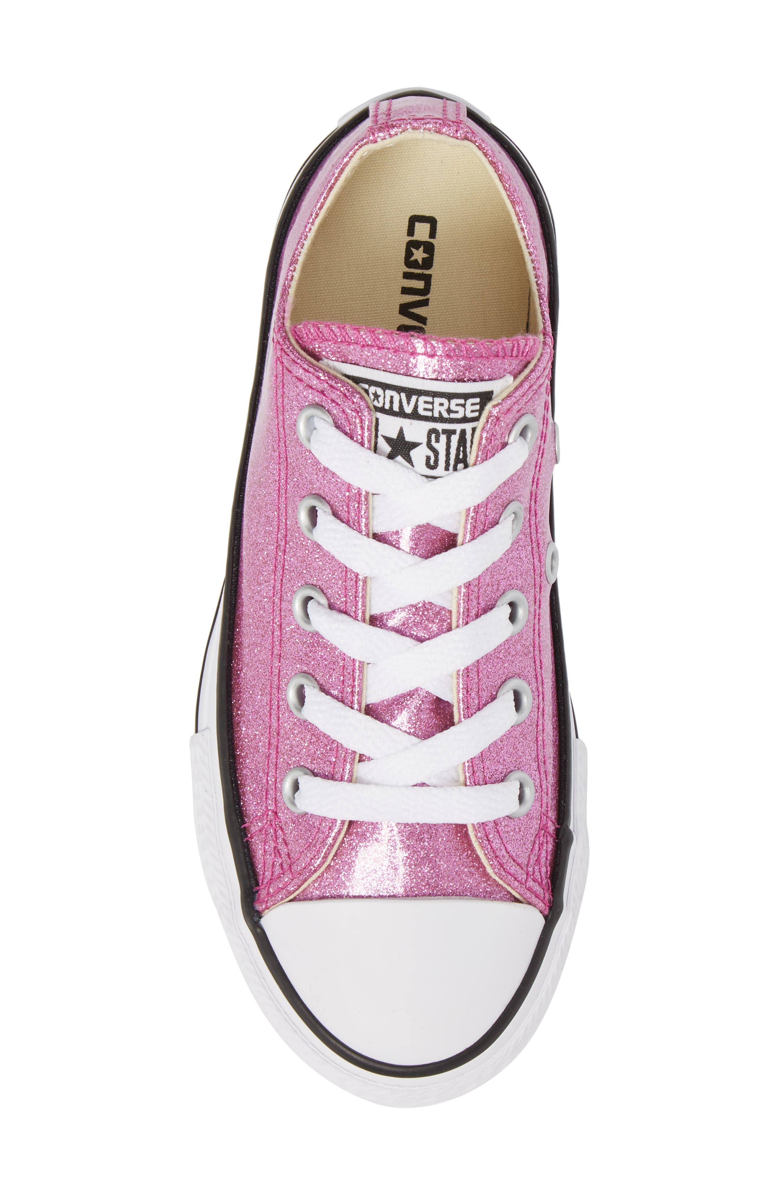 All Star<sup>®</sup> Seasonal Glitter OX Low Top Sneaker,                             Alternate thumbnail 5, color,                             Bright Violet