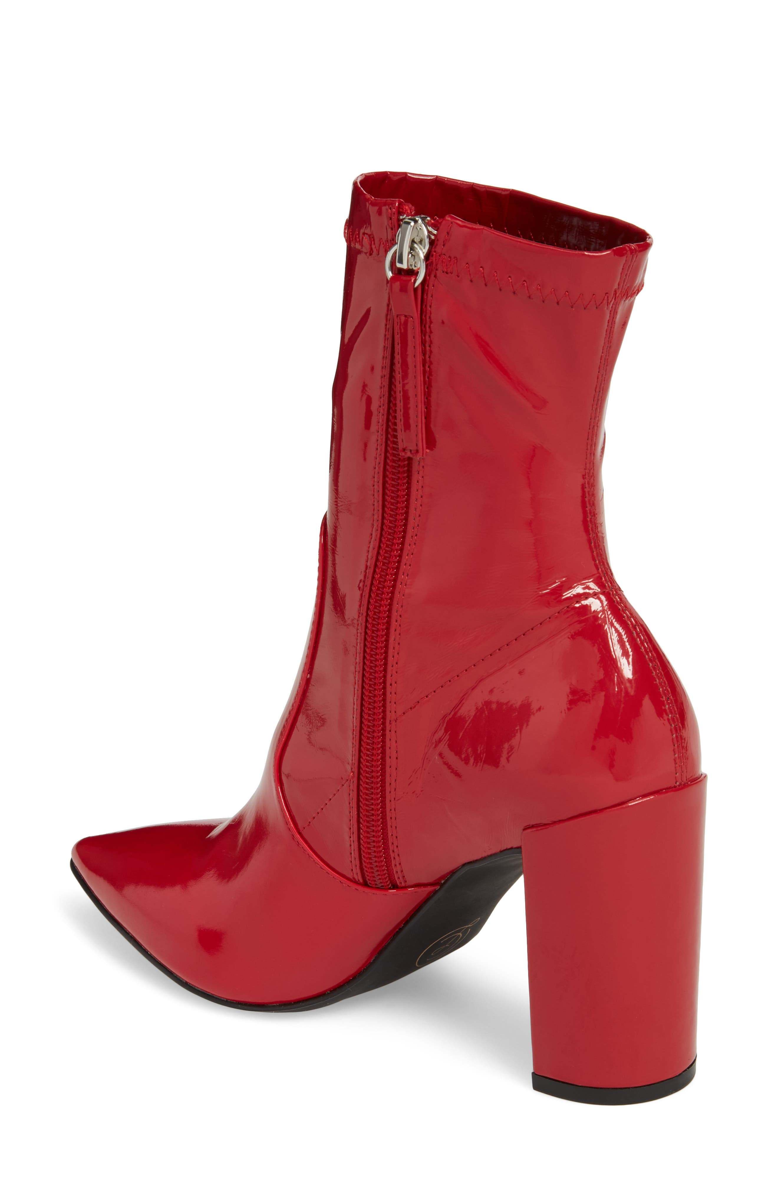Raine Boot,                             Alternate thumbnail 2, color,                             Red Patent