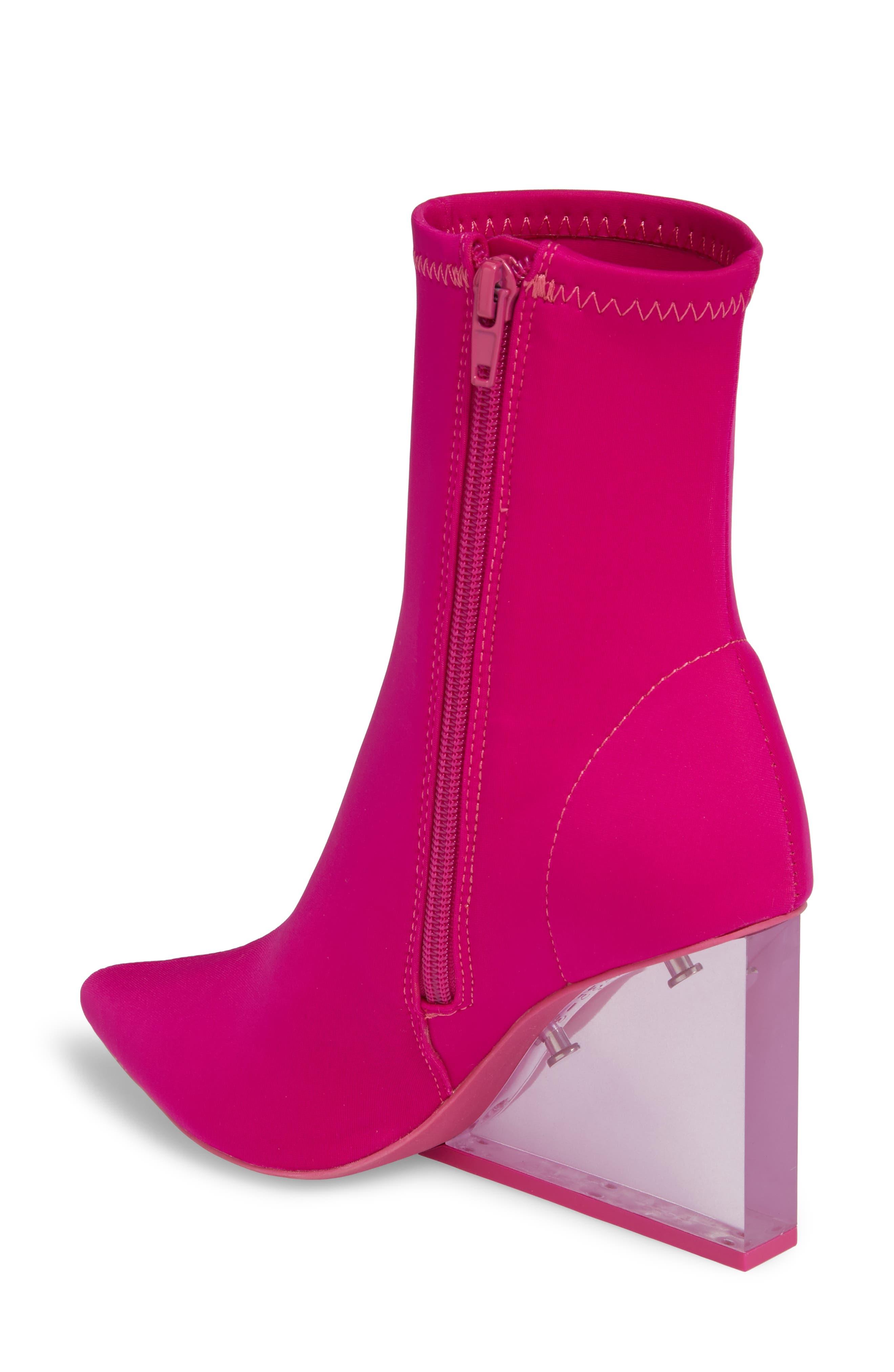 Alternate Image 2  - Jeffrey Campbell Siren Clear Wedge Sock Bootie (Women)