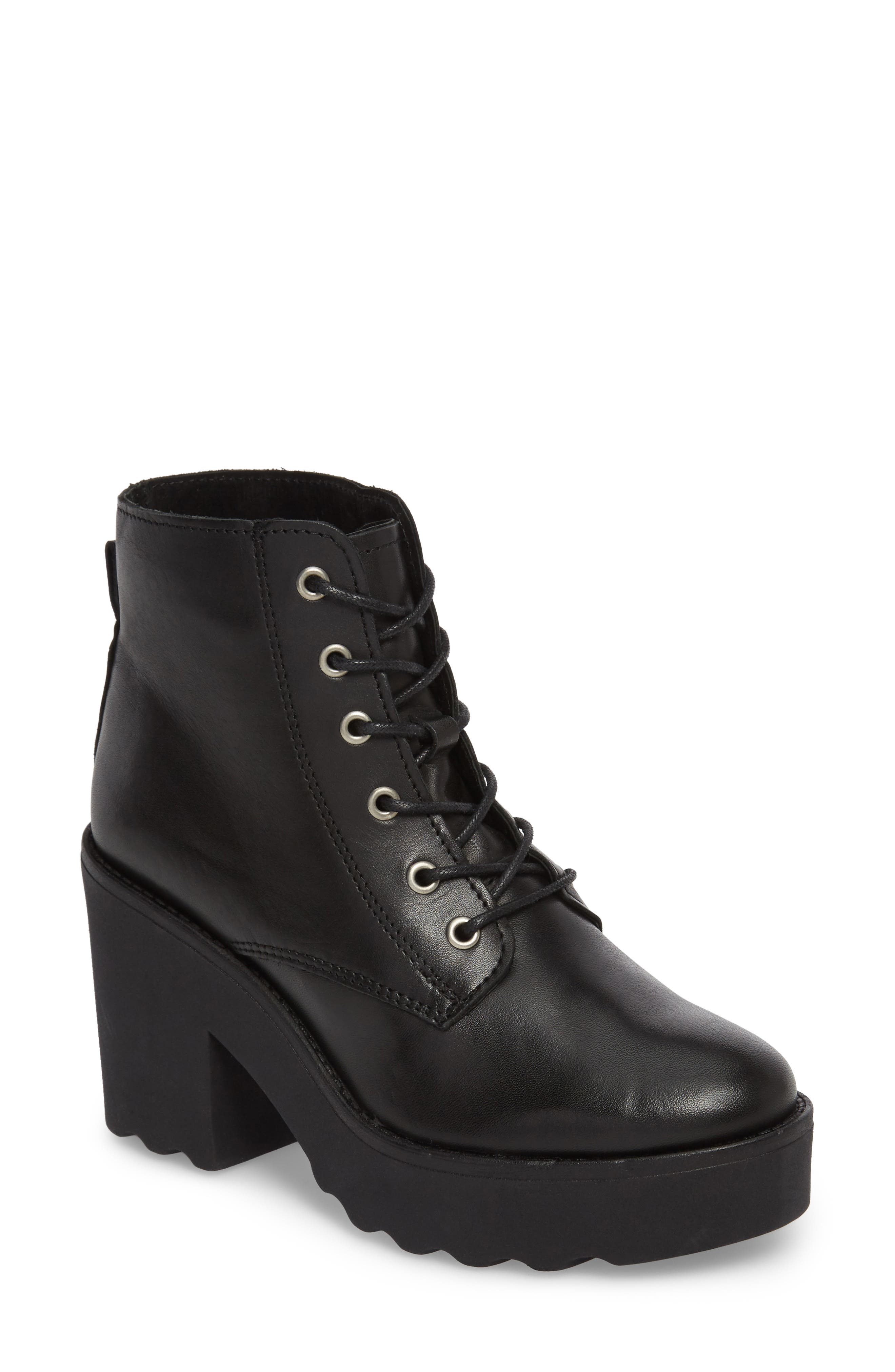 Gusto Boot,                             Main thumbnail 1, color,                             Black Leather