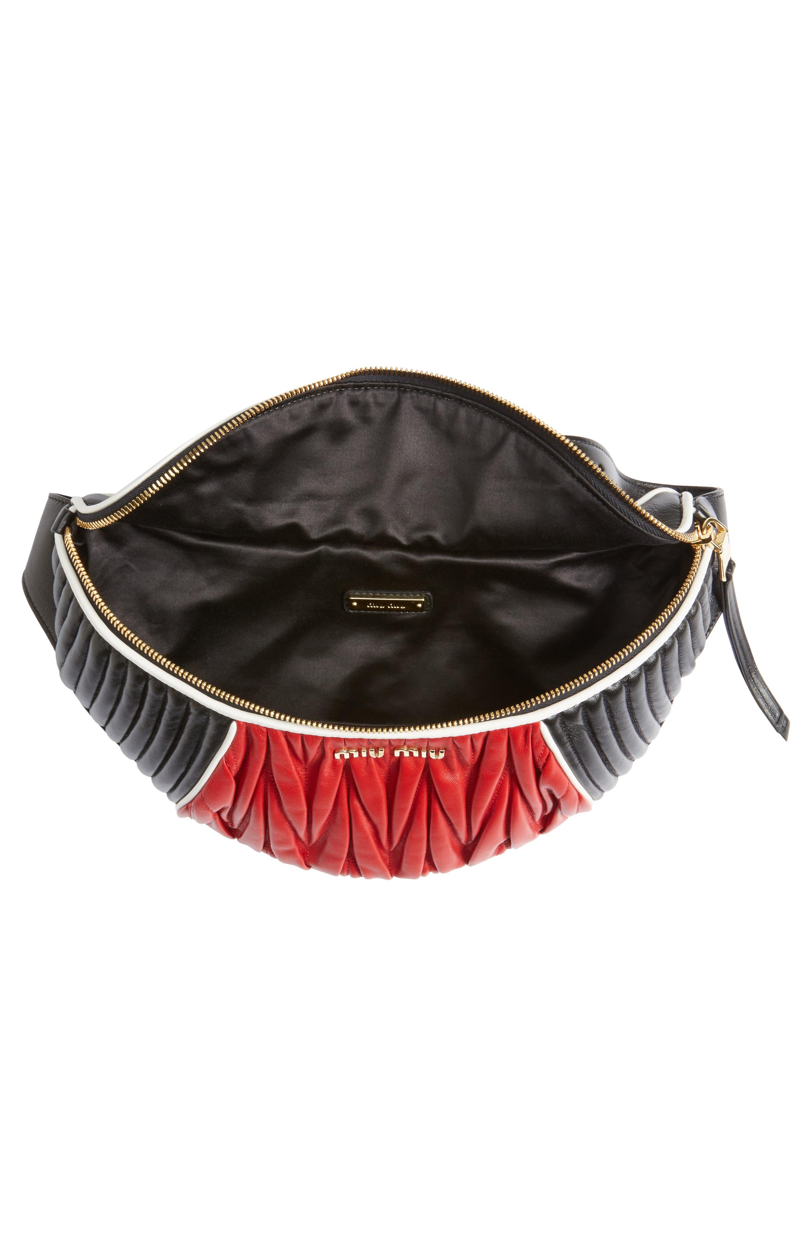 Alternate Image 5  - Miu Miu Rider Matelassé Leather Belt Bag