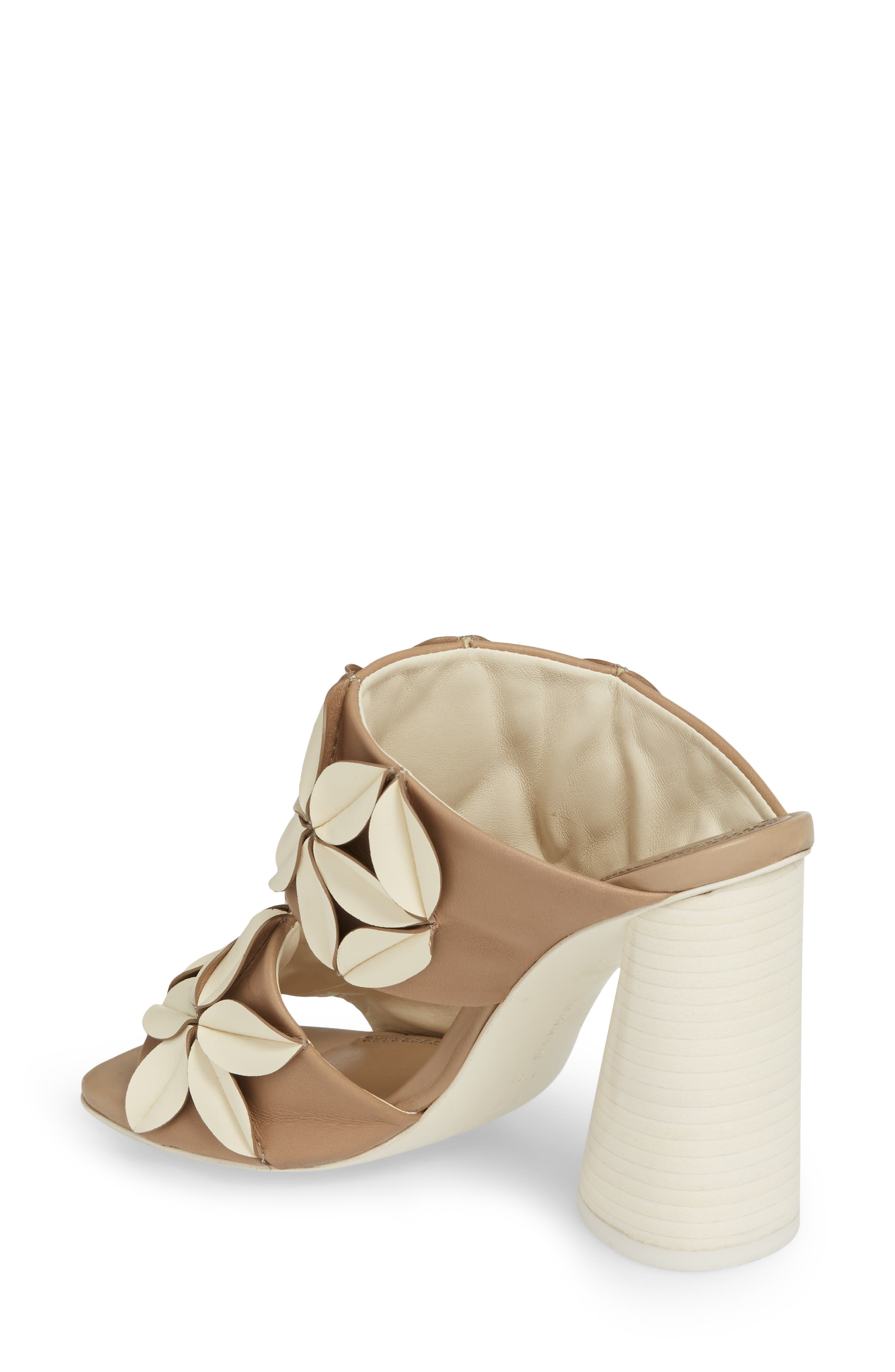 Mura Floral Embellished Mule,                             Alternate thumbnail 2, color,                             Ivory/ Taupe