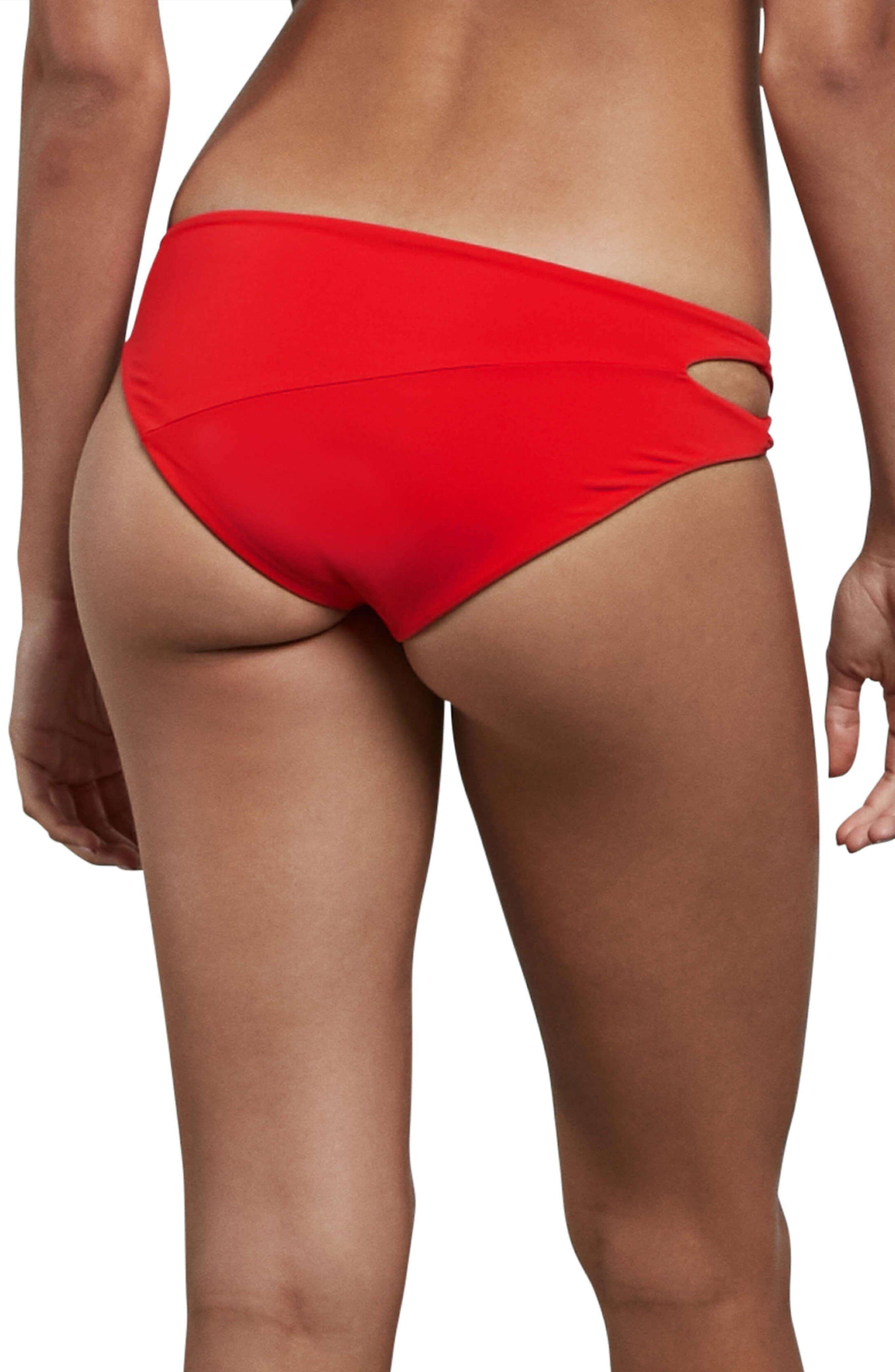 Simply Seamless Bikini Bottoms,                             Alternate thumbnail 2, color,                             True Red