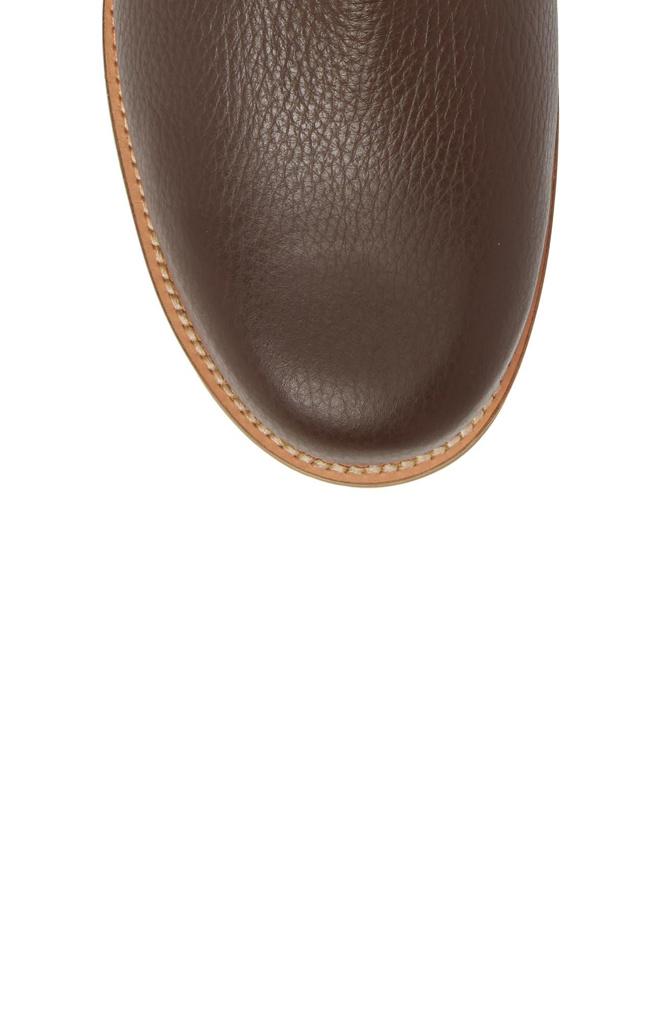 David Plain Toe Boot,                             Alternate thumbnail 5, color,                             Chocolate Leather
