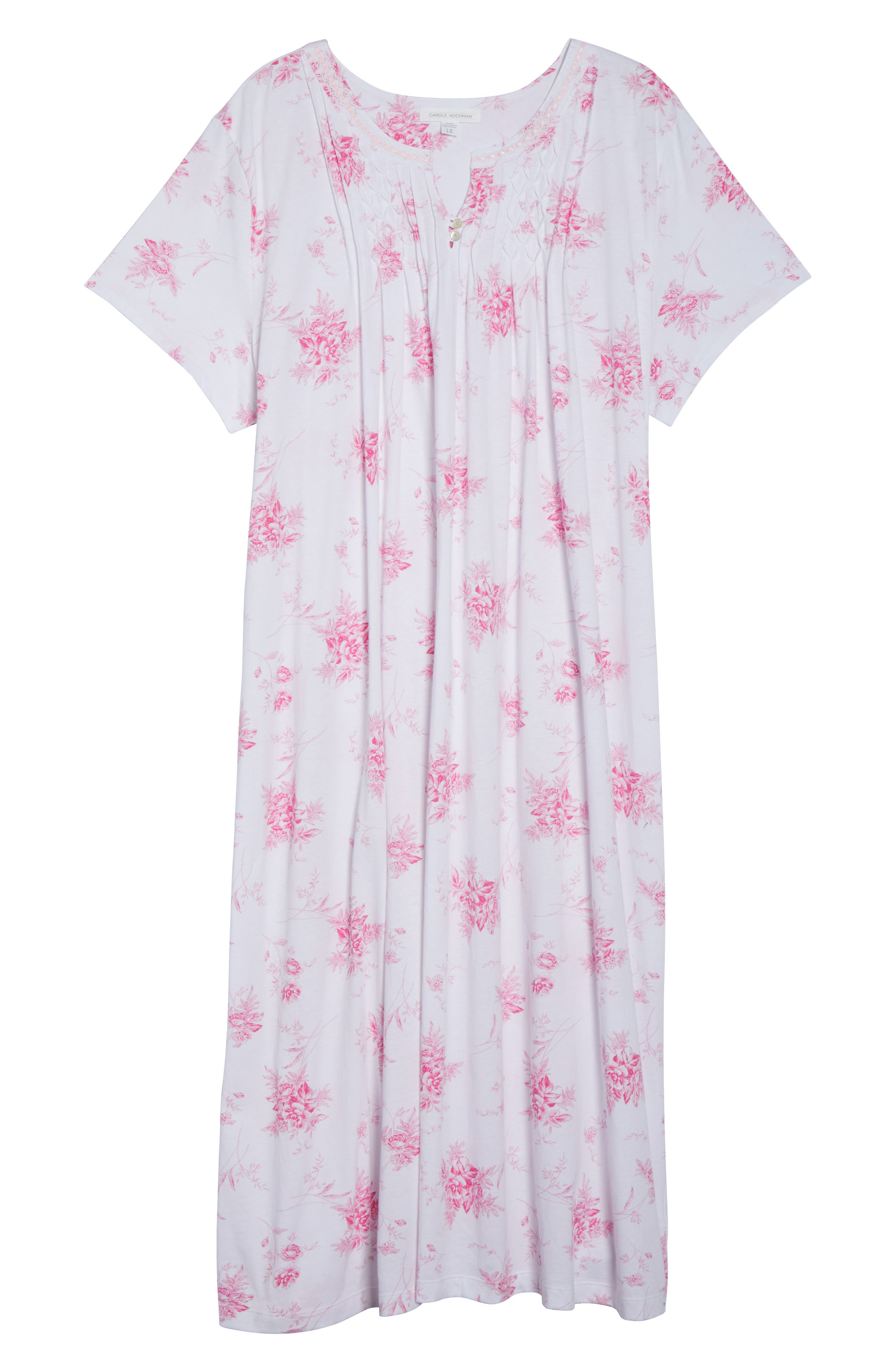 Cotton Jersey Long Nightgown,                             Alternate thumbnail 4, color,                             Bouquet Swing