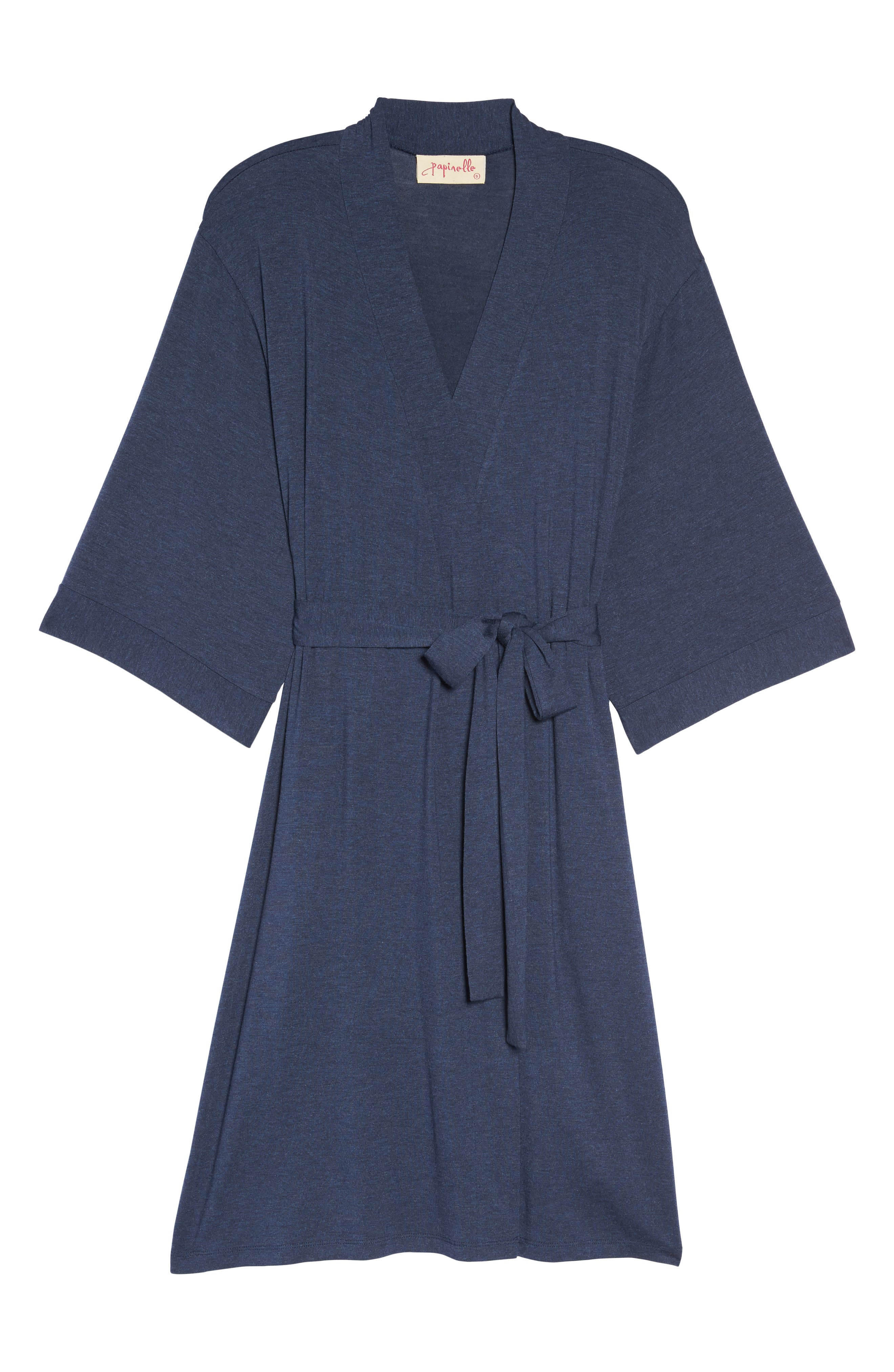 Jersey Robe,                             Alternate thumbnail 4, color,                             Navy