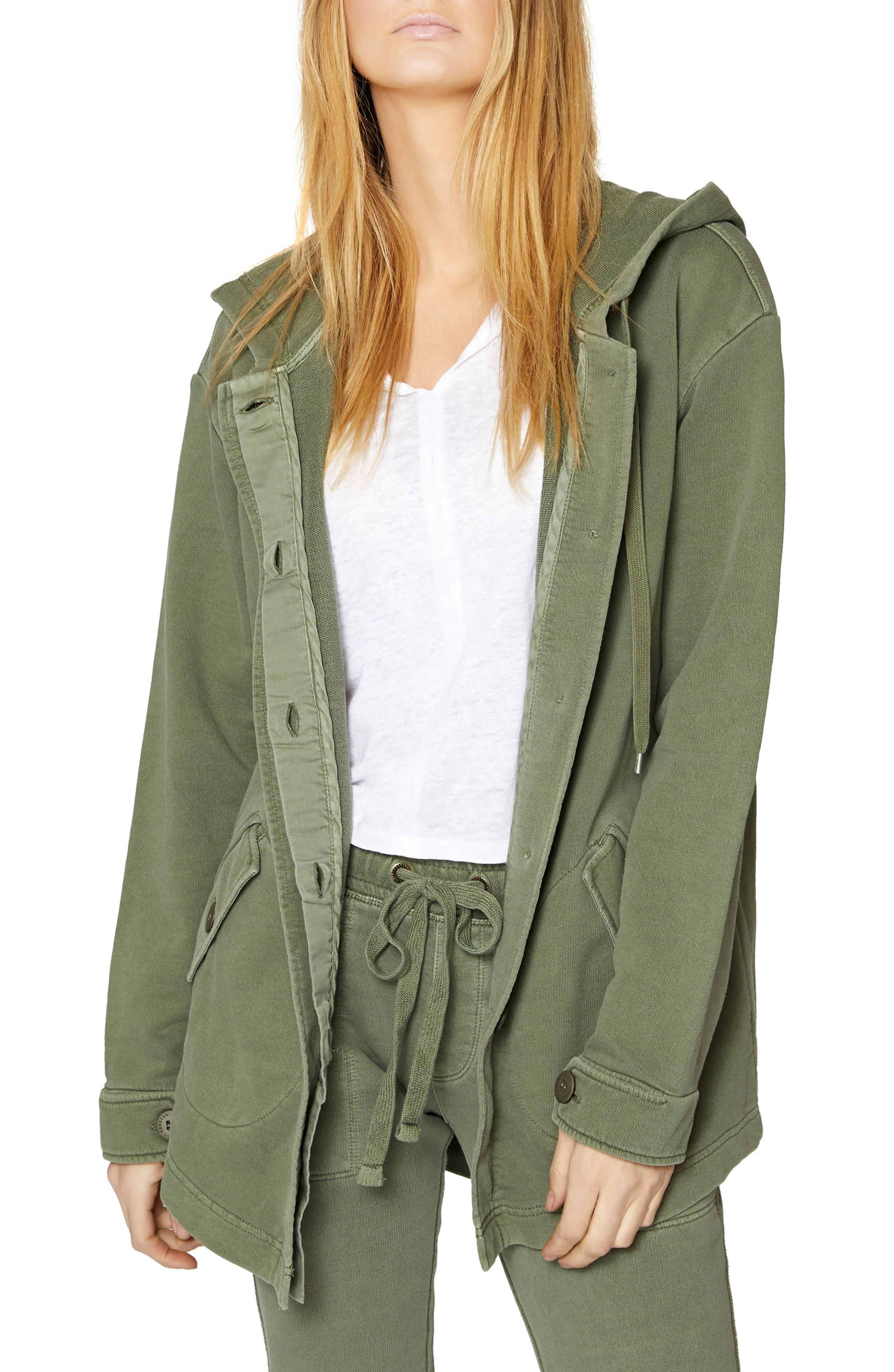 Top Rank Hooded Jacket,                         Main,                         color, Cadet