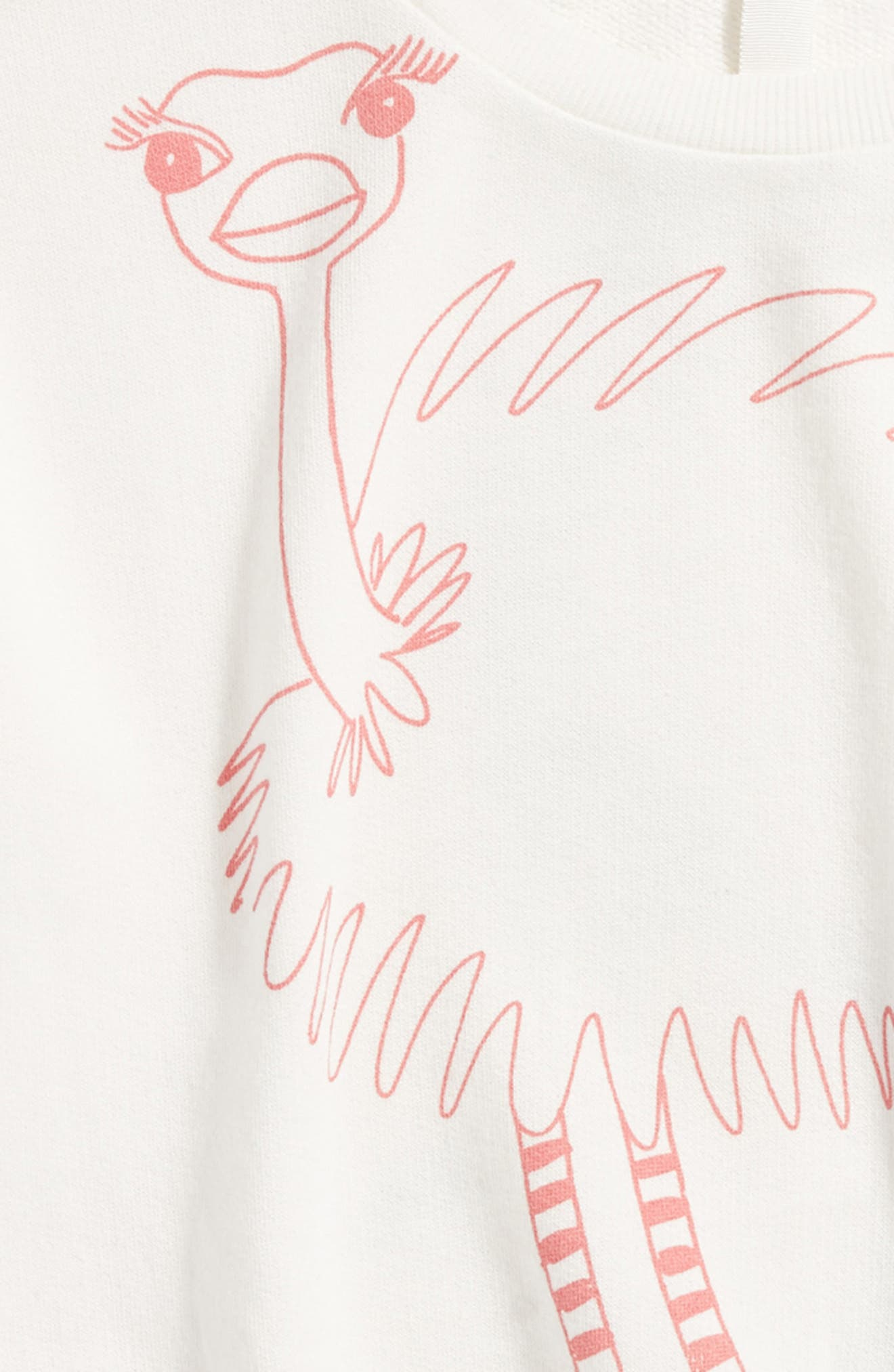 Alternate Image 3  - Stem Ostrich Graphic Sweatshirt (Toddler Girls, Little Girls & Big Girls)