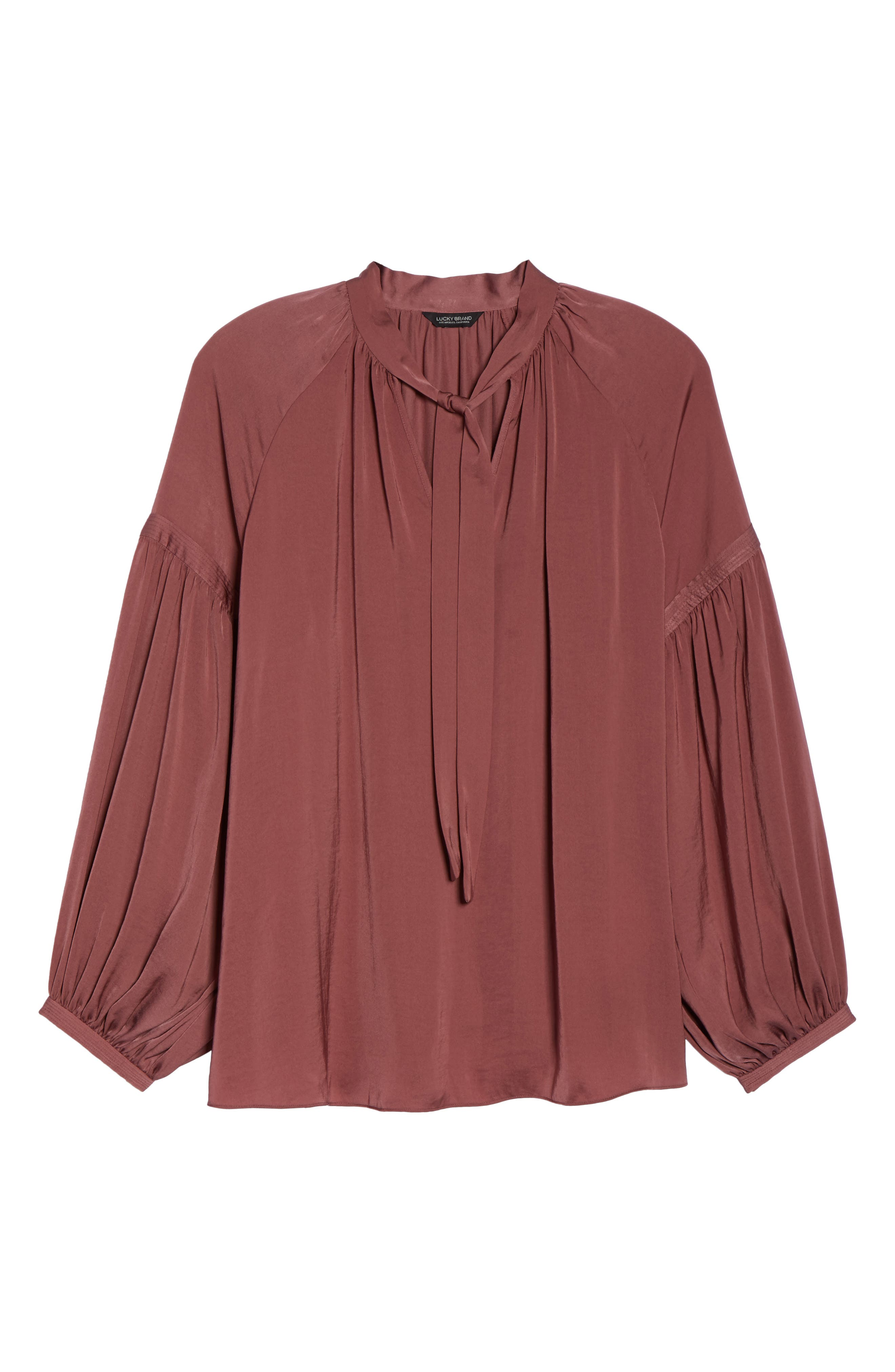 Alternate Image 6  - Lucky Brand Jenna Peasant Top (Plus Size)