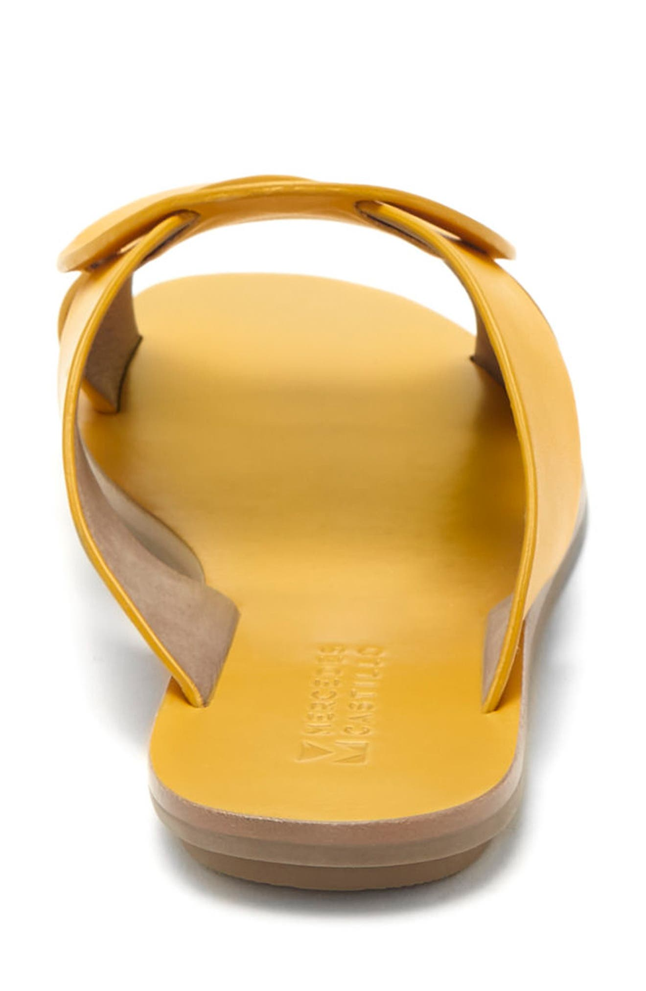 Carlein Slide Sandal,                             Alternate thumbnail 6, color,                             Mustard Leather