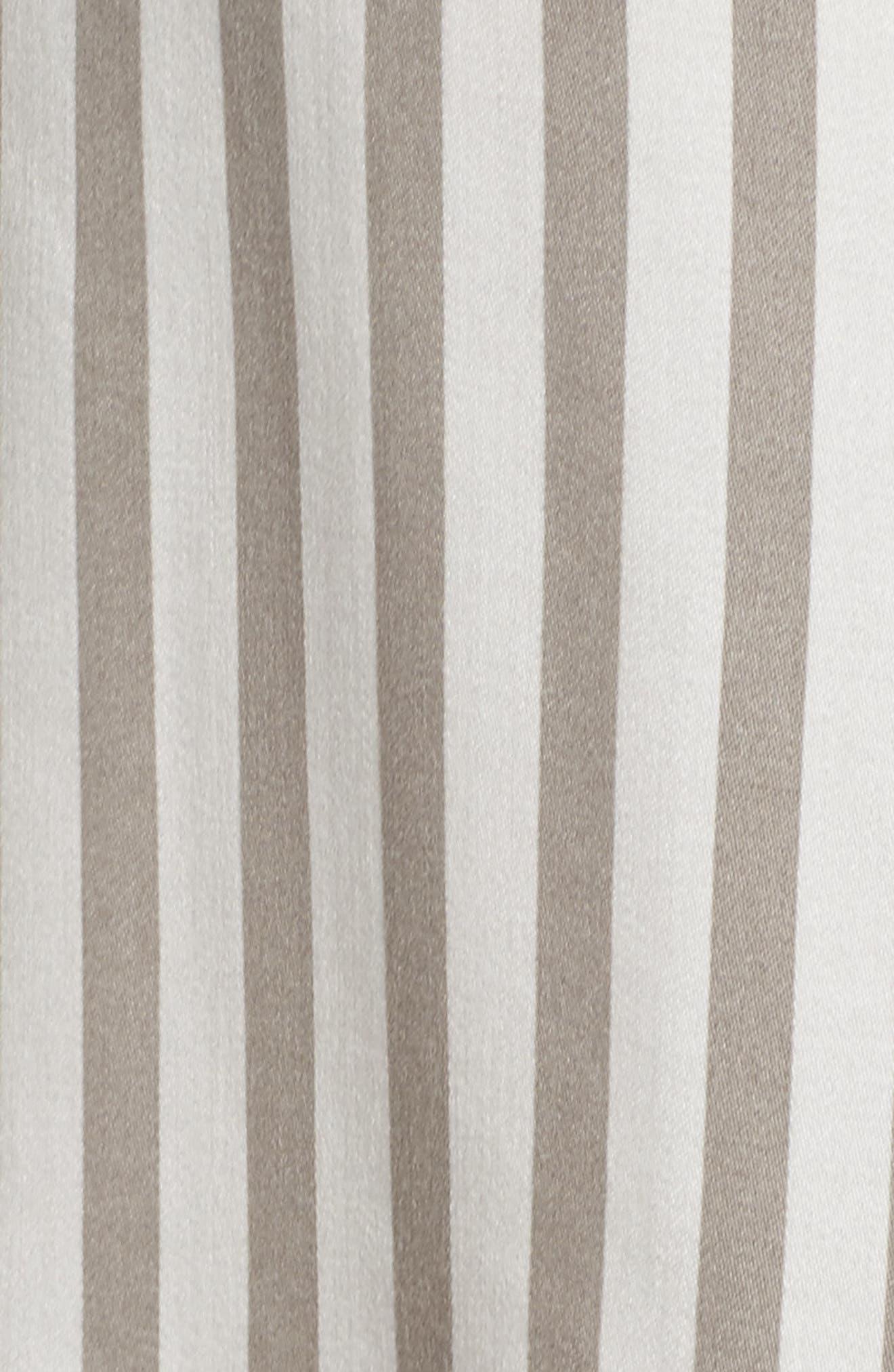 Stripe Pajamas,                             Alternate thumbnail 5, color,                             Silver