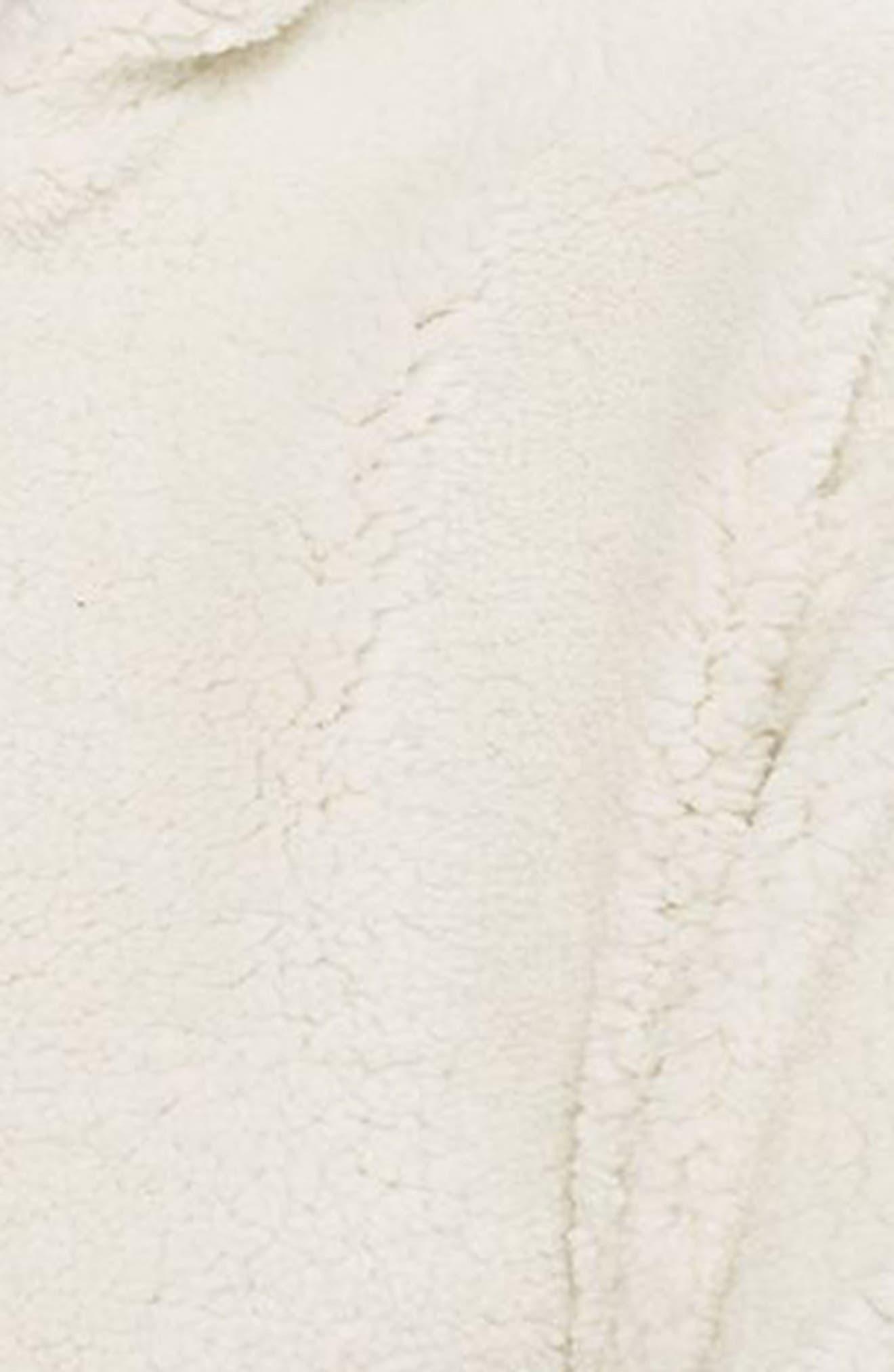 Alternate Image 3  - Topshop Fleece Quarter-Zip Hoodie
