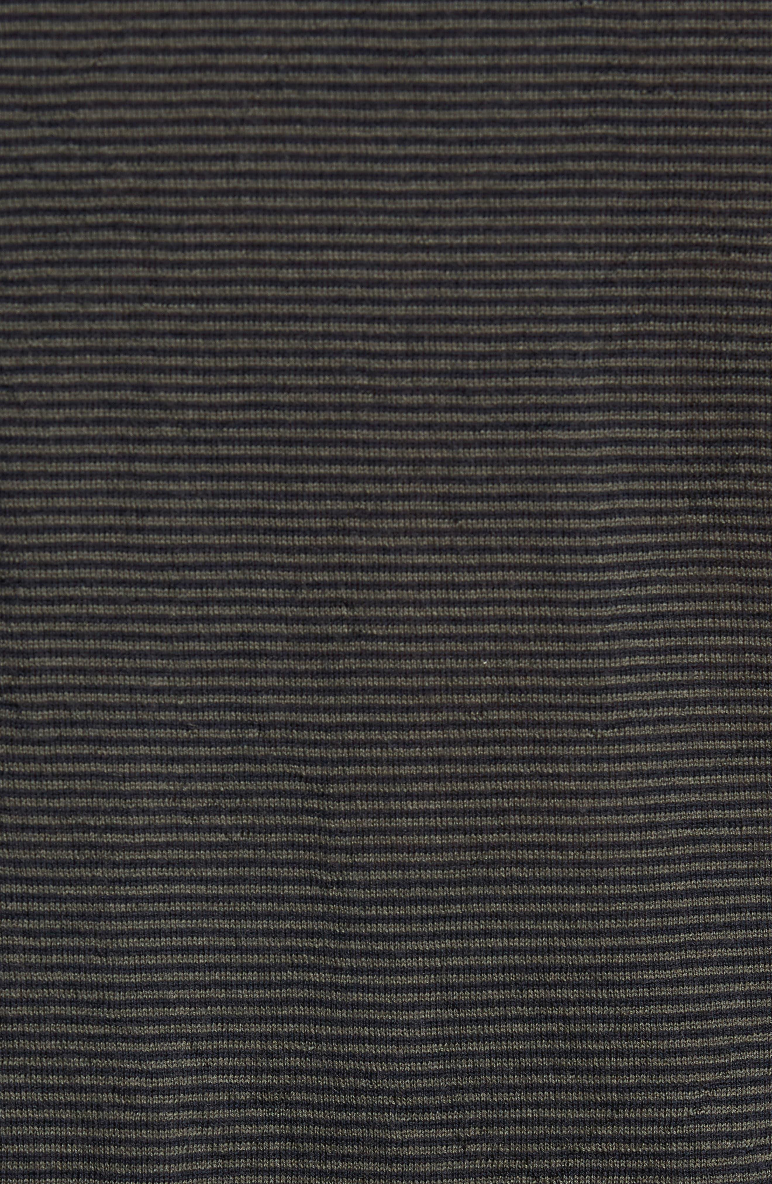 Regular Fit Pinstripe Wool Sweater,                             Alternate thumbnail 5, color,                             New Coastal/ H Charcoal