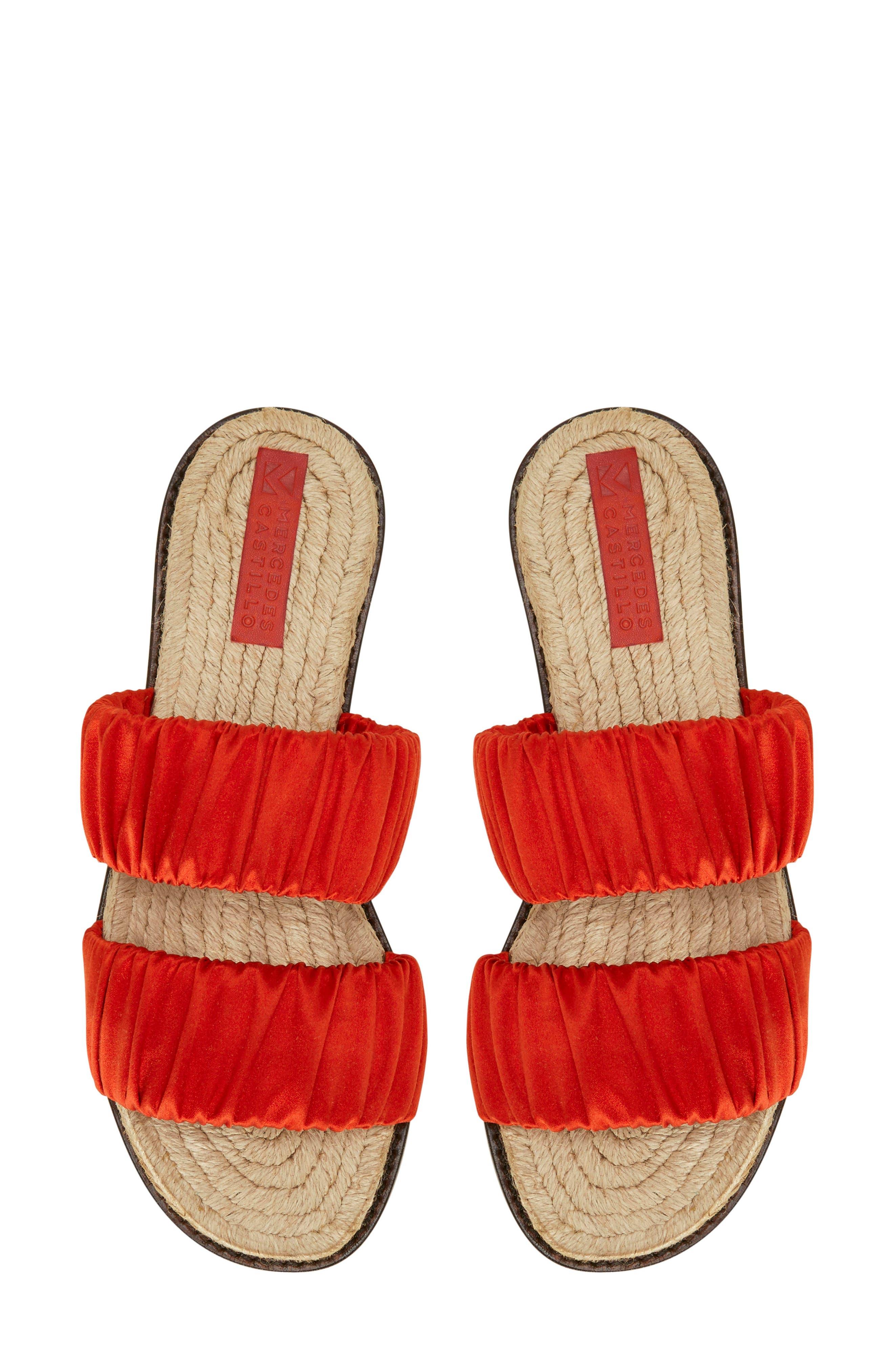 Espadrille Sandal,                             Alternate thumbnail 3, color,                             Red Tulip