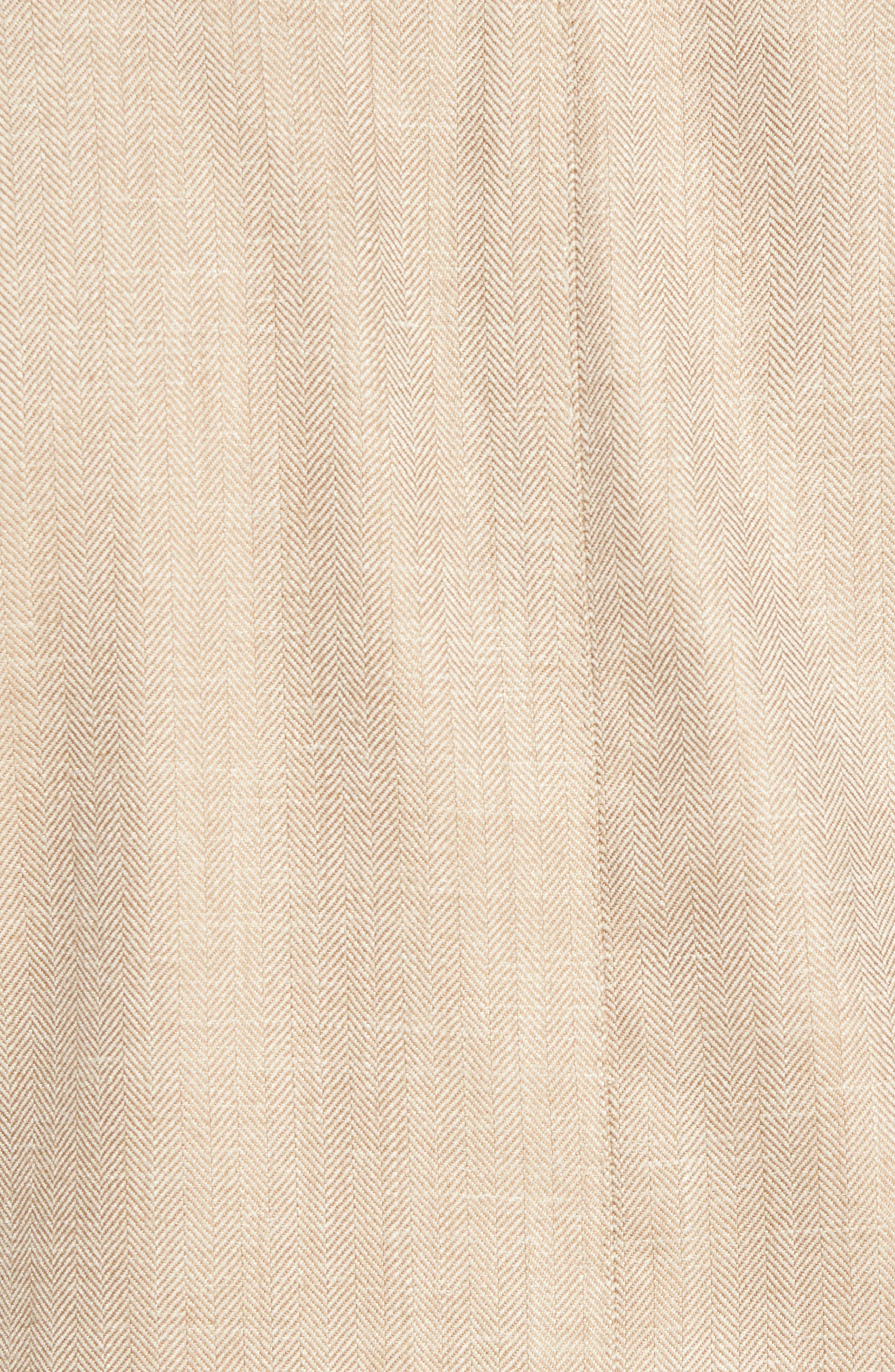 Crown Herringbone Wool & Silk Blend Jacket,                             Alternate thumbnail 5, color,                             Stone