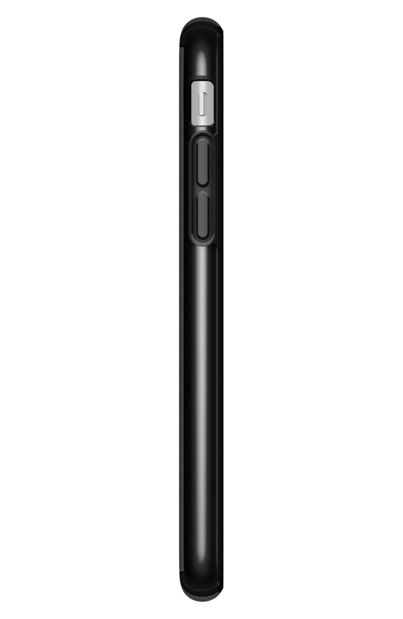 Transparent iPhone 6/6s/7/8 Case,                             Alternate thumbnail 3, color,                             Clear/ Black