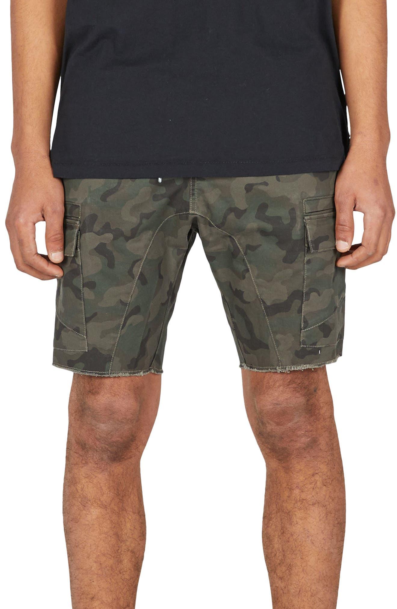 Sureshot Camo Cargo Shorts,                             Main thumbnail 1, color,                             Camo