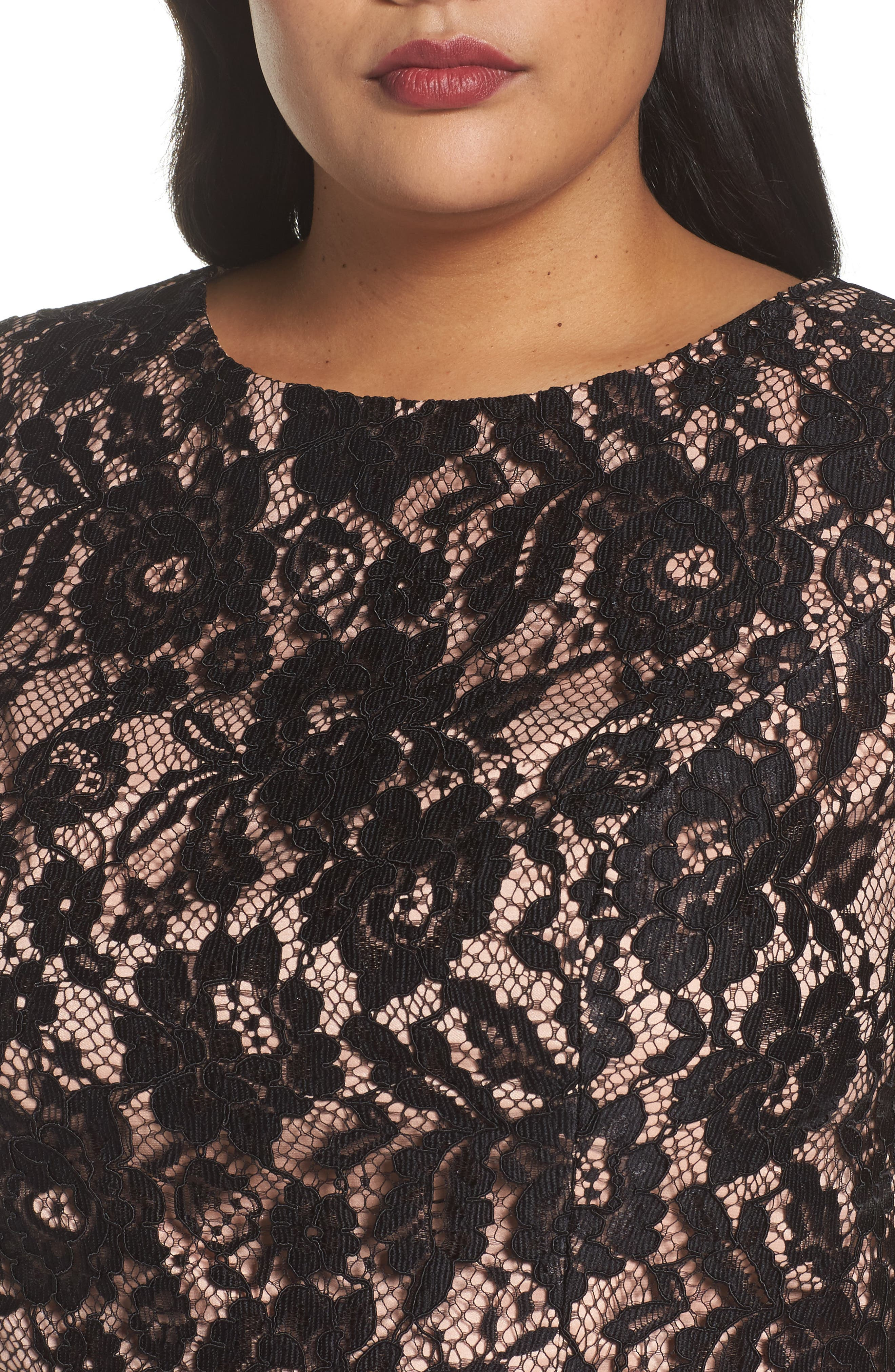 Alternate Image 4  - City Chic Decadent Lace Top (Plus Size)