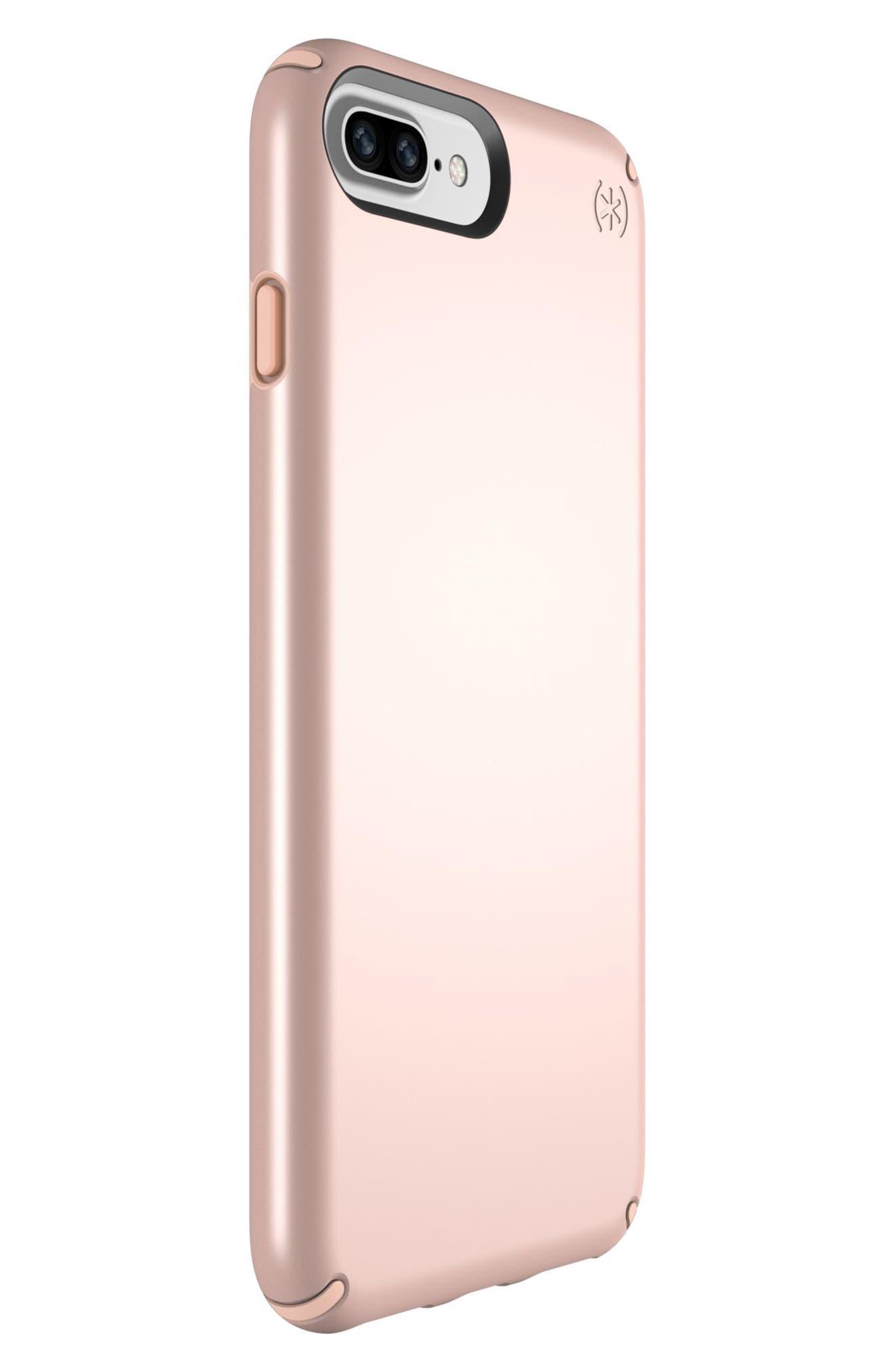 iPhone 6/6s/7/8 Plus Case,                             Alternate thumbnail 4, color,                             Rose Gold Metallic/ Peach