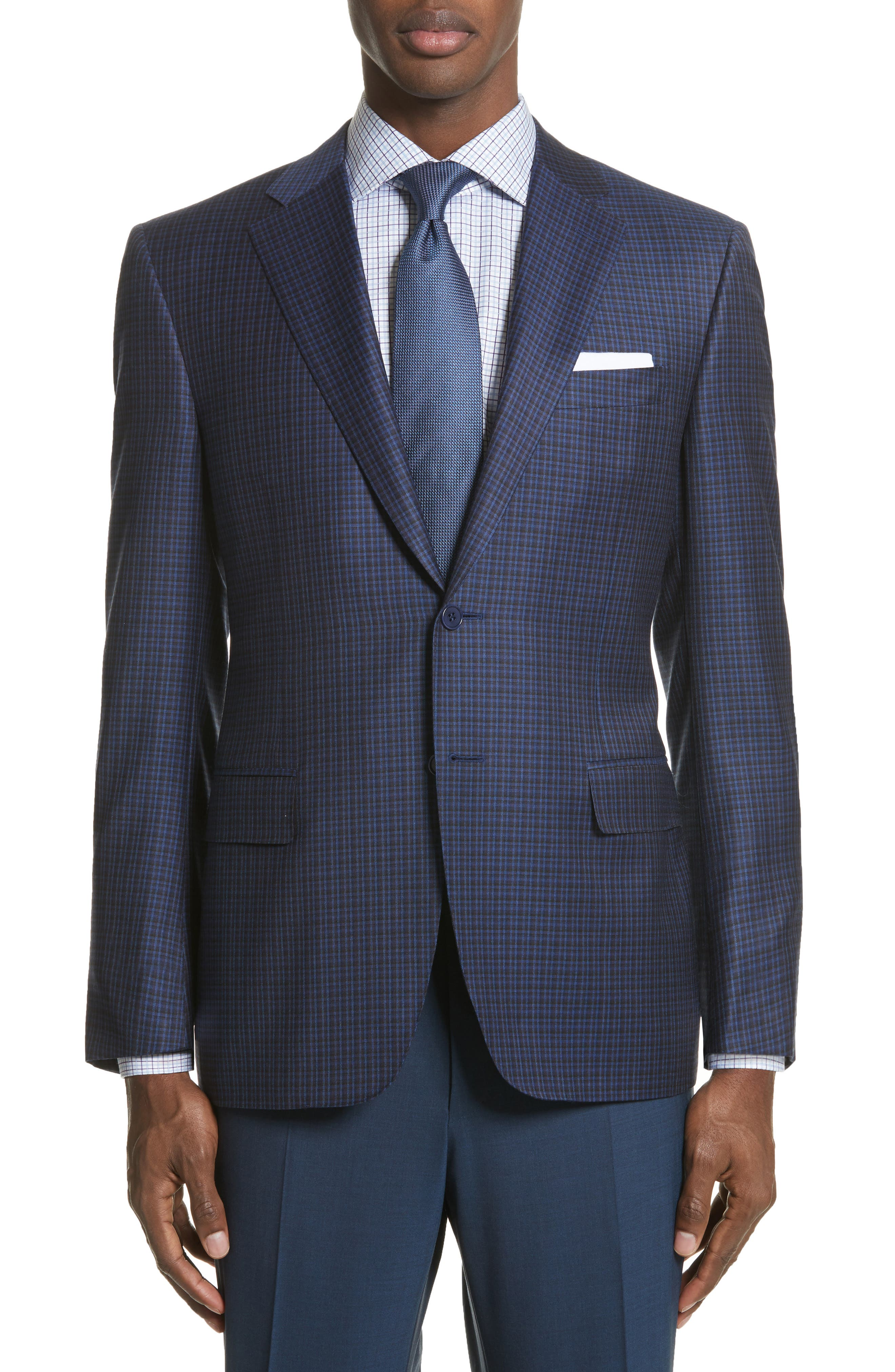 Alternate Image 1 Selected - Canali Classic Fit Check Wool Sport Coat