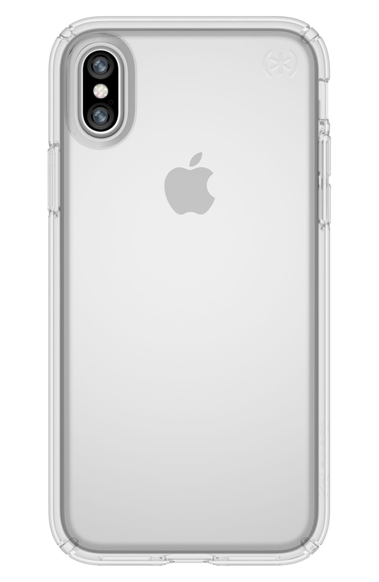 Transparent iPhone X Case,                             Main thumbnail 1, color,                             Clear/ Clear