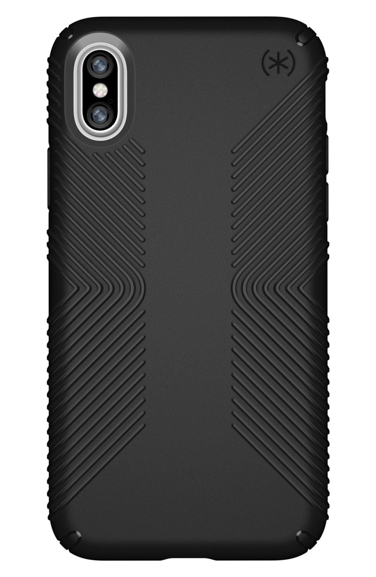 iPhone X Case,                         Main,                         color, Black/ Black